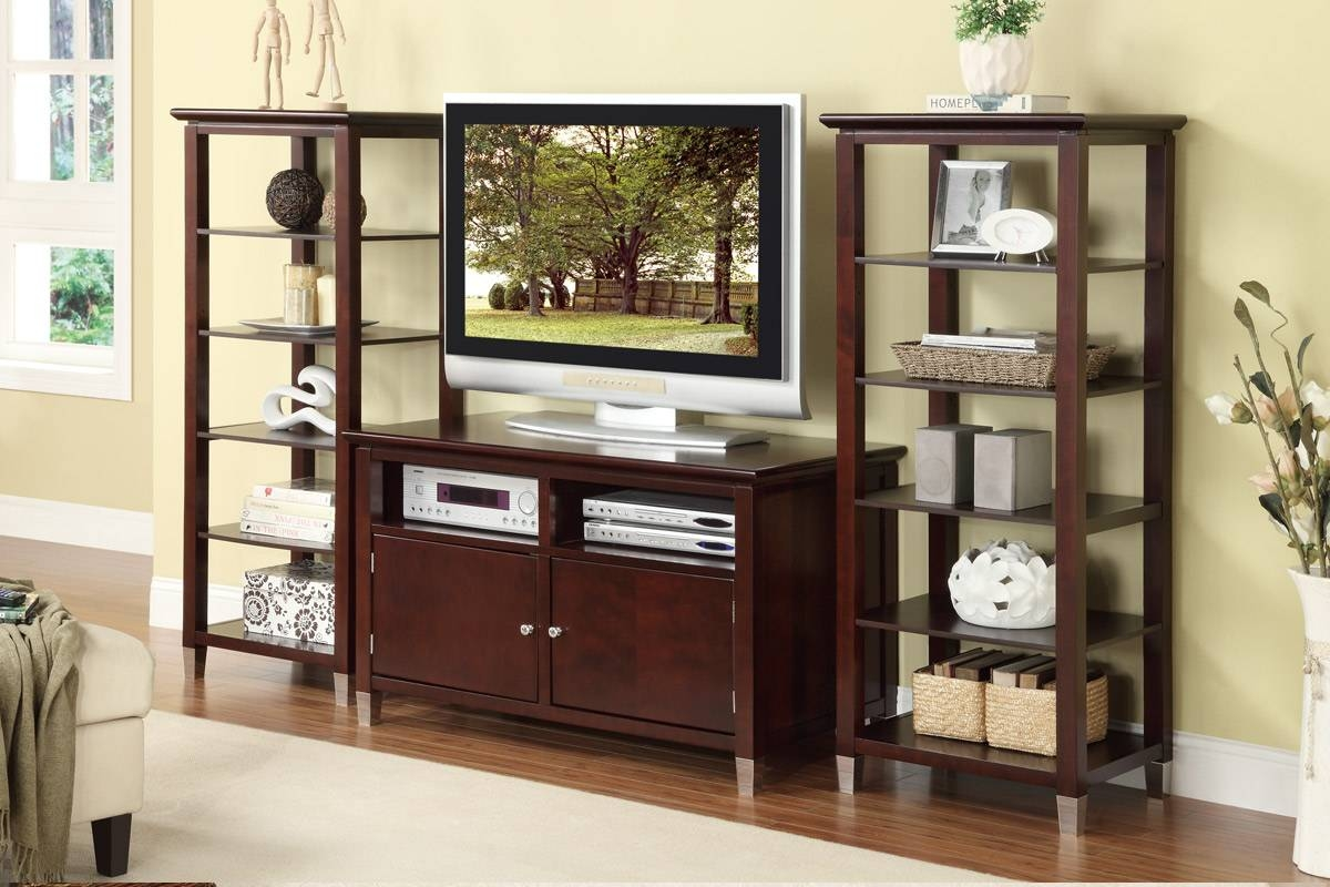 Contemporary Tv Stand With Storage And Optional Media Shelves for Storage Tv Stands (Image 5 of 15)