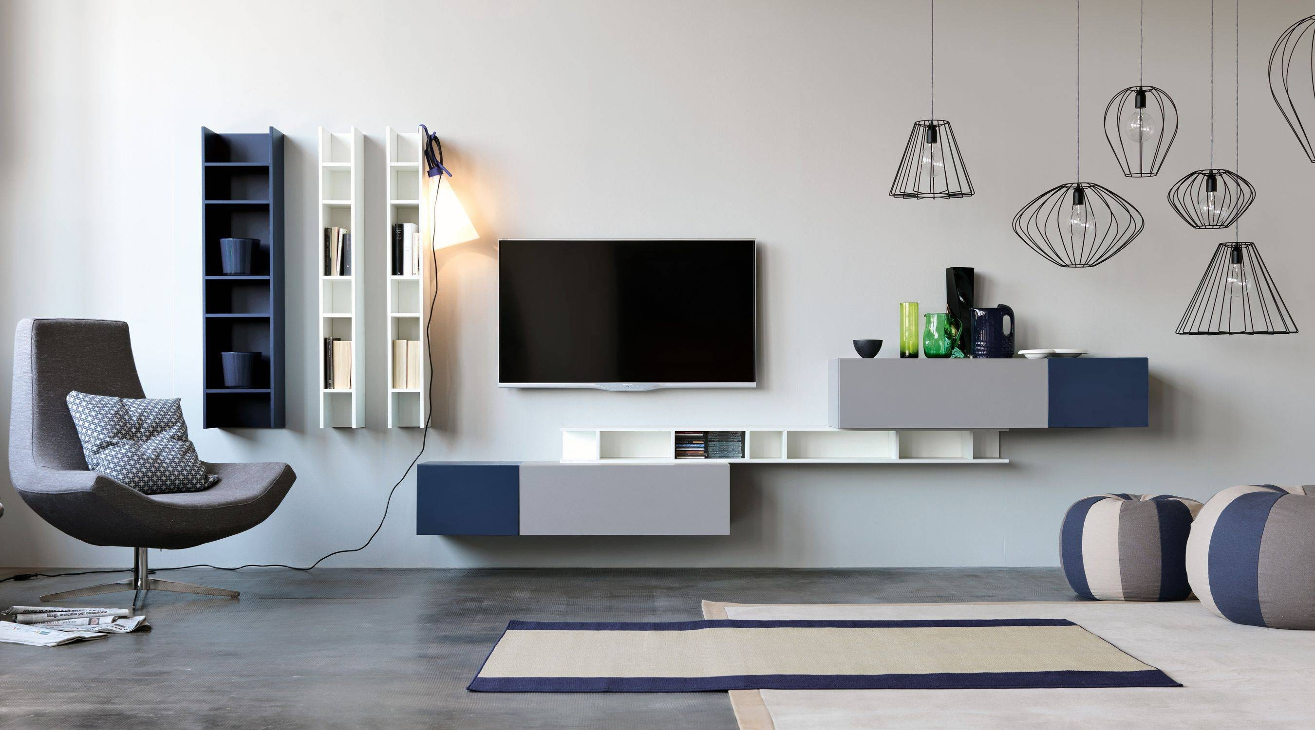 Contemporary Tv Wall Unit / Modular – Citylife 14 – Doimo Cityline Intended For Tv Wall Unit (View 2 of 15)