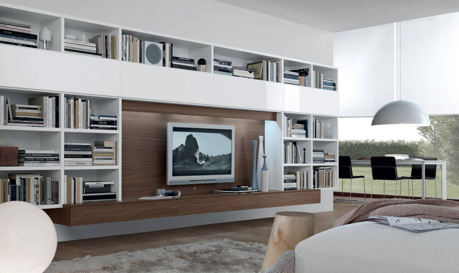 Contemporary Tv Wall Unit Open System Jesse Gallery Including For Tv Wall Unit (View 15 of 15)