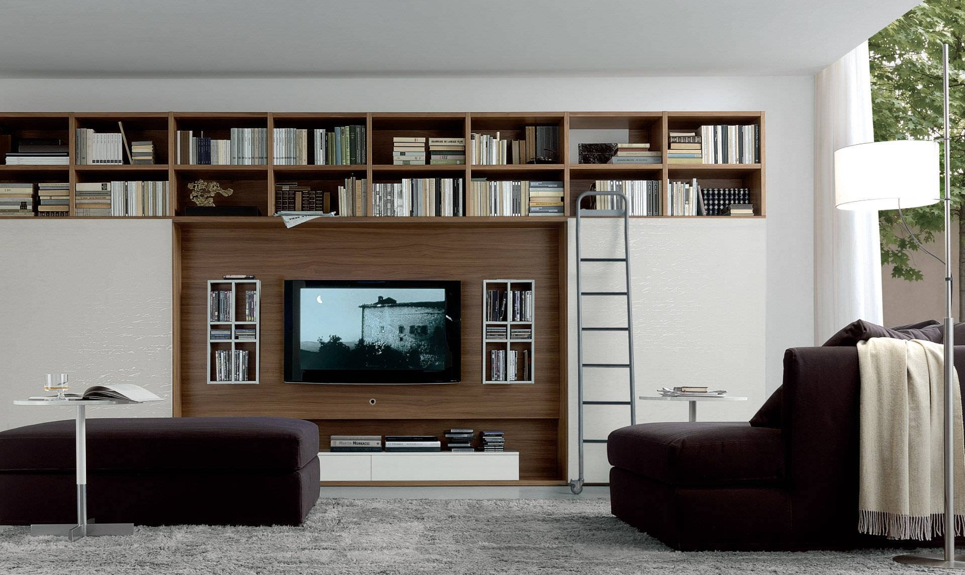 Contemporary Tv Wall Unit - Open System - Jesse throughout Contemporary Tv Wall Units (Image 6 of 15)