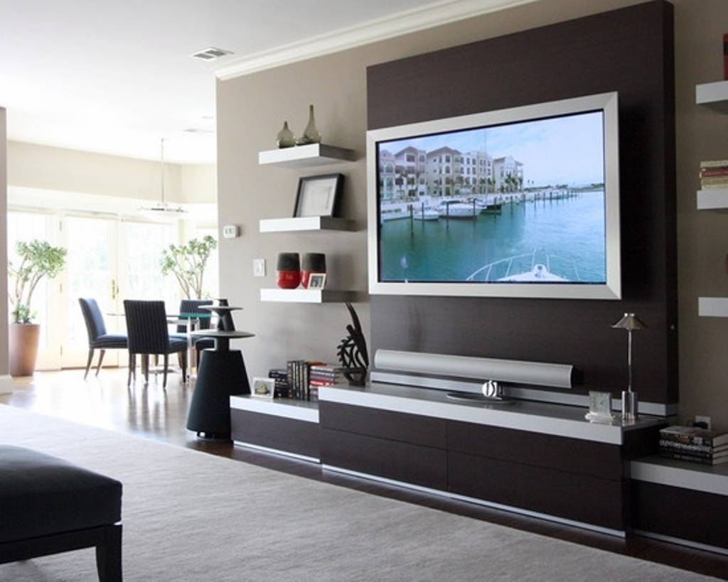 Contemporary Wall Mount Tv Stand : Attractive Wall Mount Tv Stand pertaining to Modern Wall Mount Tv Stands (Image 5 of 15)