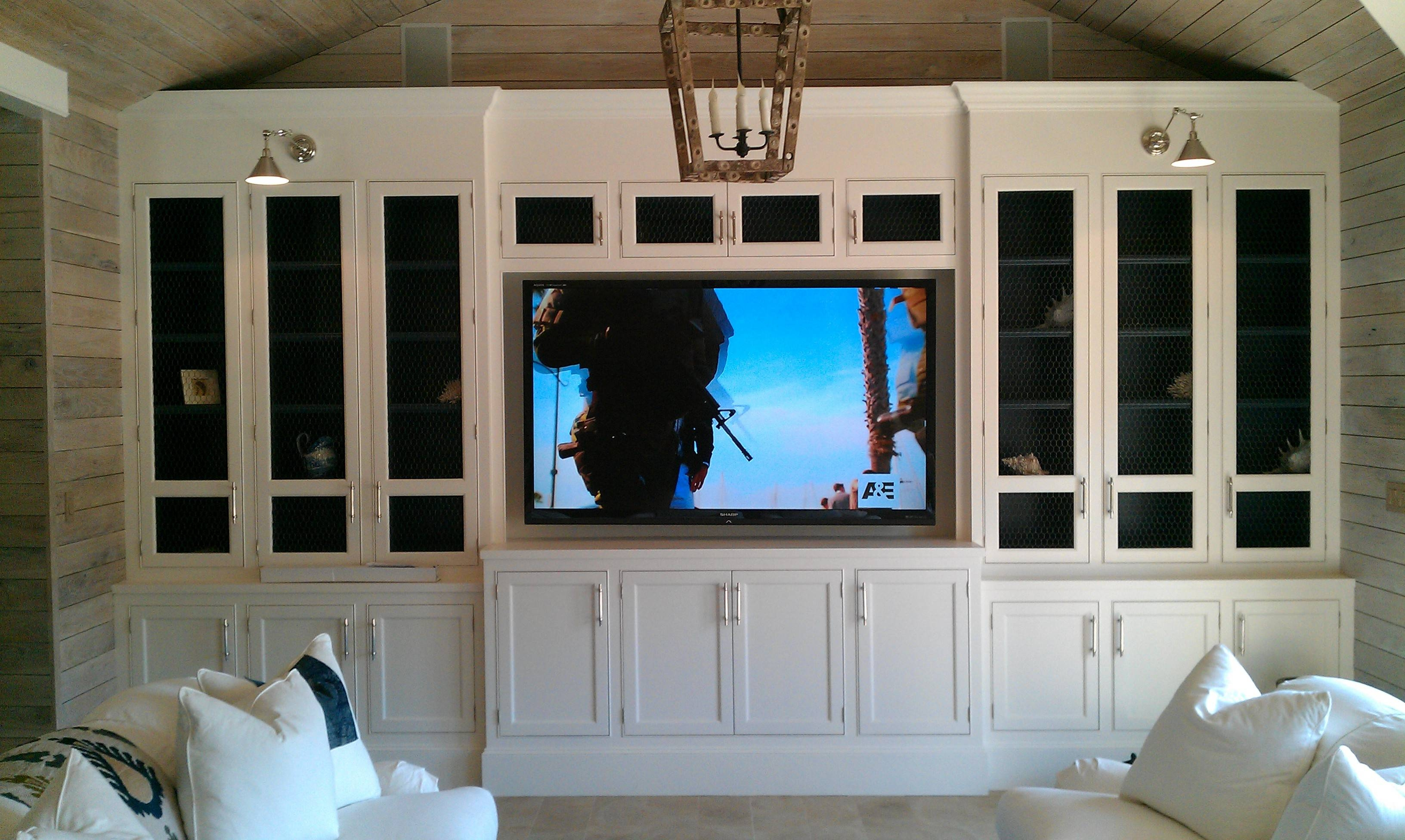 Contemporary White Cabinet With Glass Doors For Tv Cabinets With In Fancy  Tv Cabinets (Photo