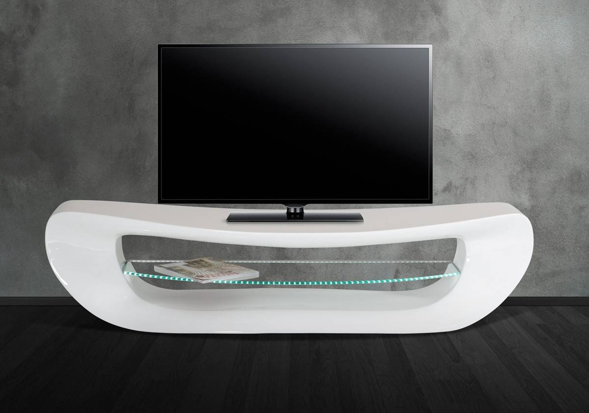 Contemporary White Tv Stand in Modern White Lacquer Tv Stands (Image 4 of 15)