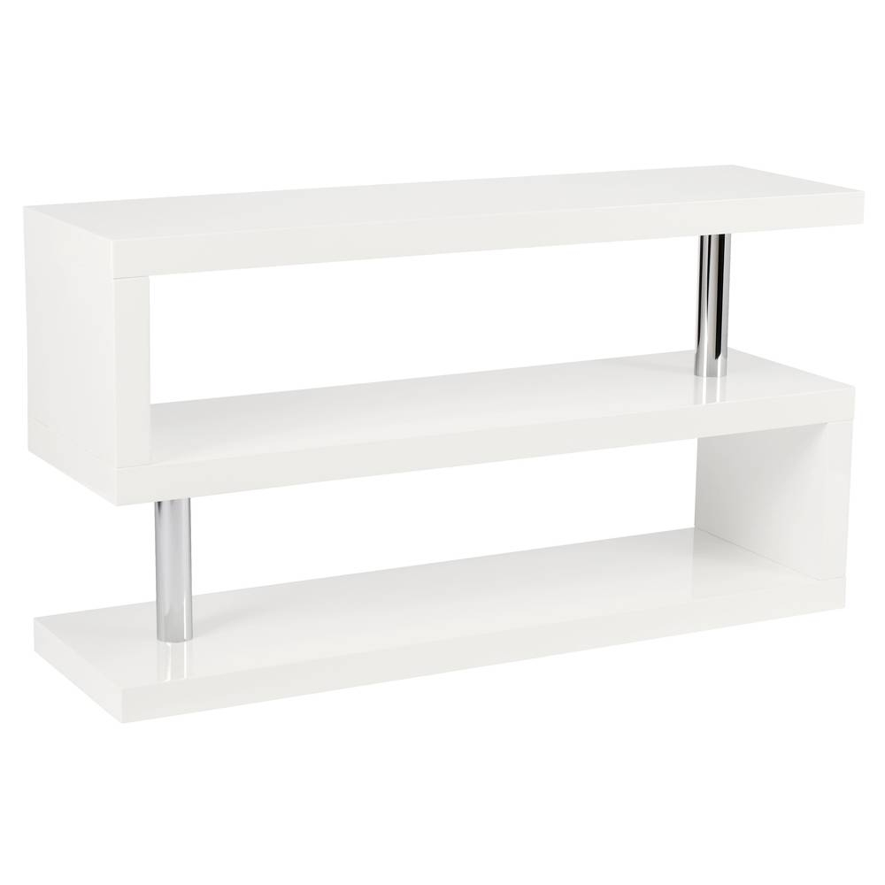 Contour Tv Unit With Shelving White - Dwell with regard to Corner Tv Unit White Gloss (Image 4 of 15)