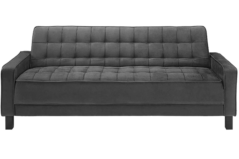 Convertible Mckinley Black Sofa Bed | Mckinley Black Euro Lounger with regard to Euro Lounger Sofa Beds (Image 3 of 15)