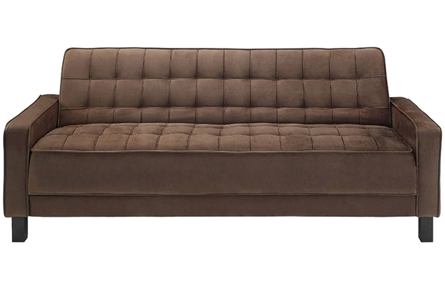 Convertible Mckinley Brown Sofa Bed | Mckinley Brown Euro Lounger intended for Euro Loungers (Image 1 of 15)
