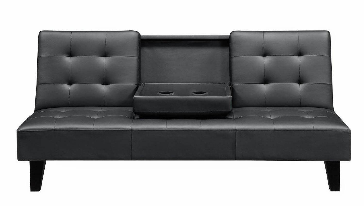 Convertible Sofa with Black Leather Convertible Sofas (Image 8 of 15)