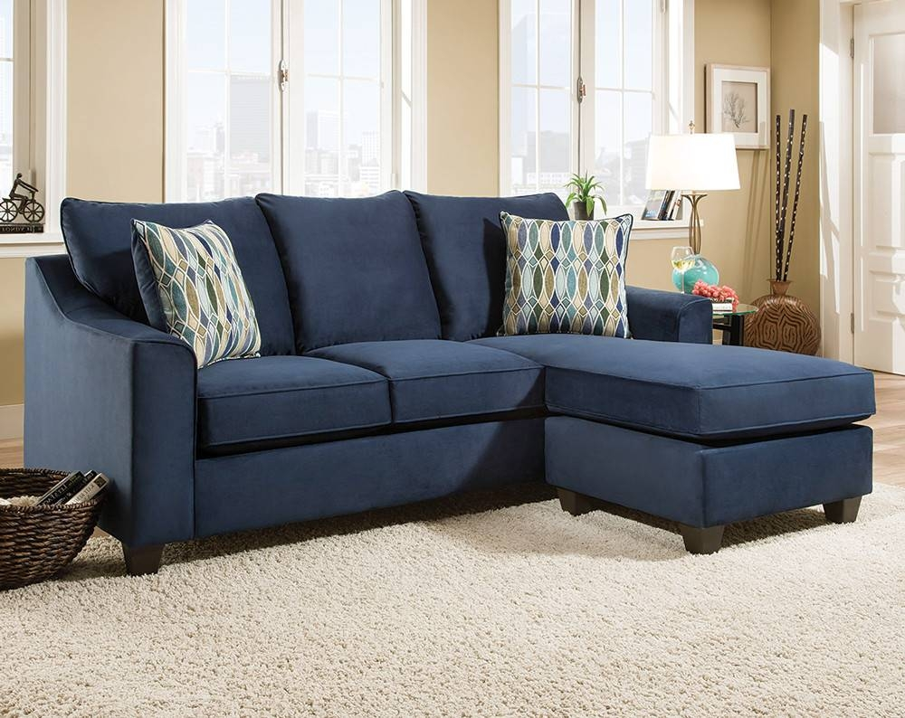 Cool Blue Microfiber Sectional Sofa 32 For Large Brown Sectional within Blue Microfiber Sofas (Image 5 of 15)