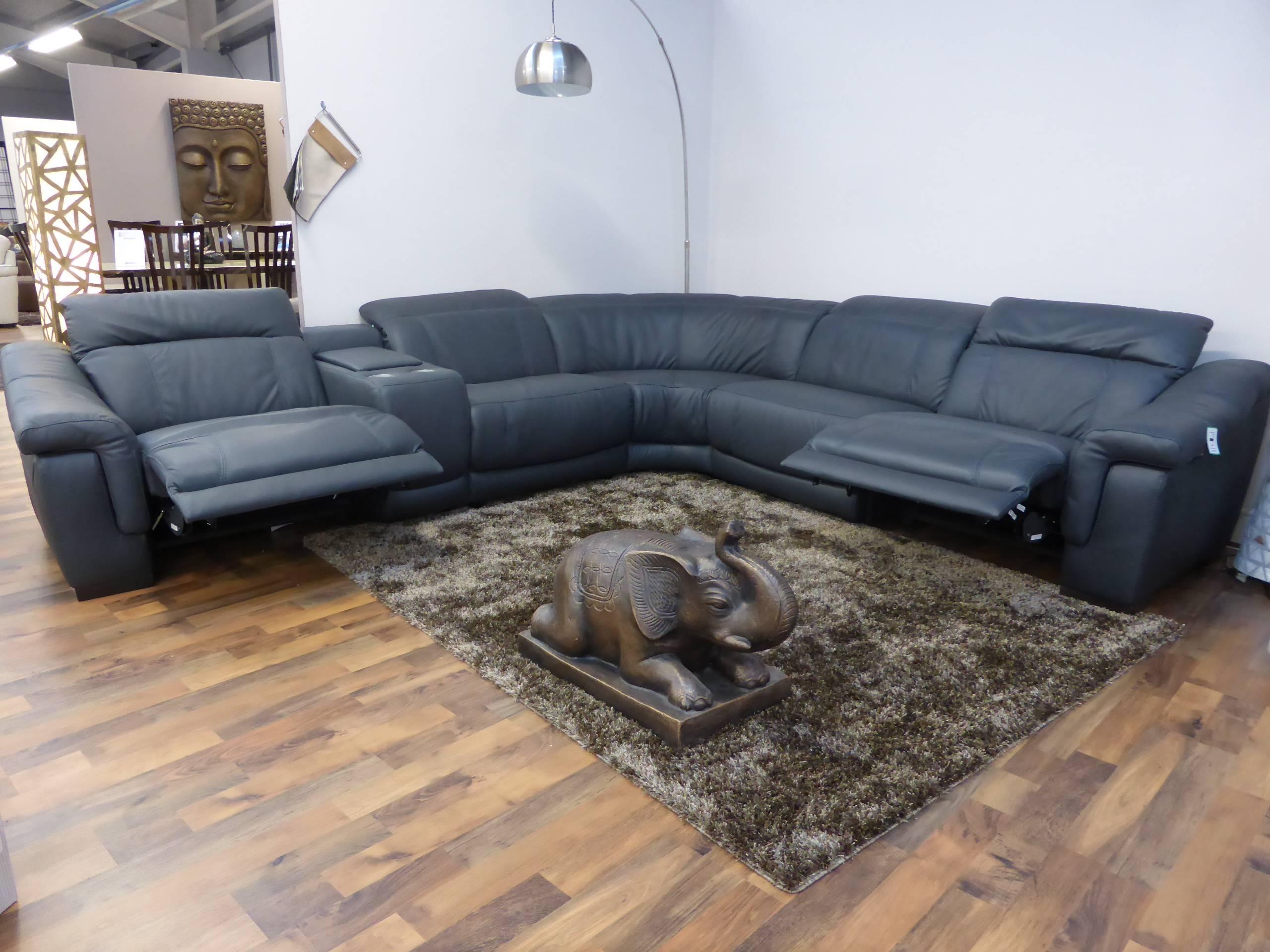 Corner Recliner Sofa Fabric - Fjellkjeden in Italian Recliner Sofas (Image 7 of 15)