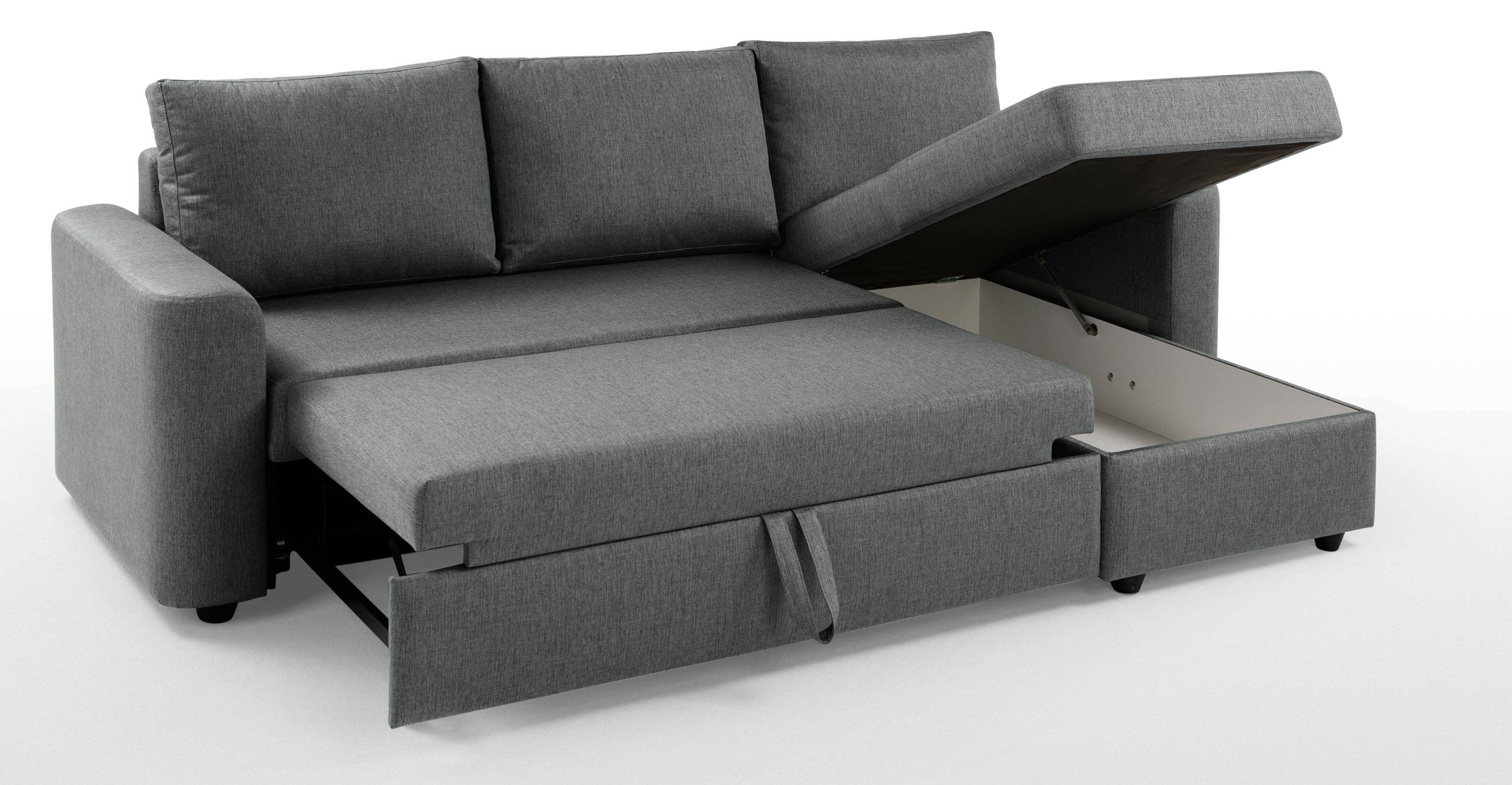 Corner Sofa Bed With Storage London | Centerfieldbar Inside Sofa Beds With Storage Chaise (View 3 of 15)