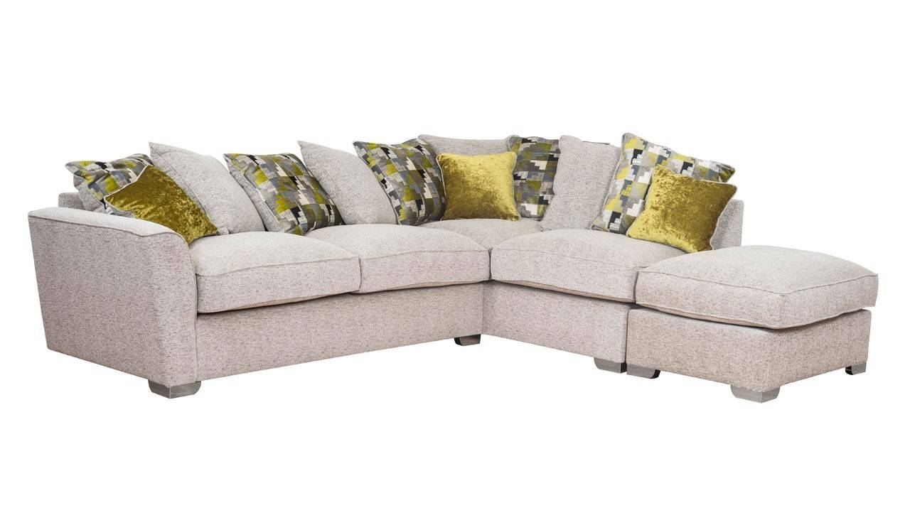 Corner Sofa With Scatter Back Rhf | Hepburn Range | Ahf Within Corner Sofas (View 4 of 15)