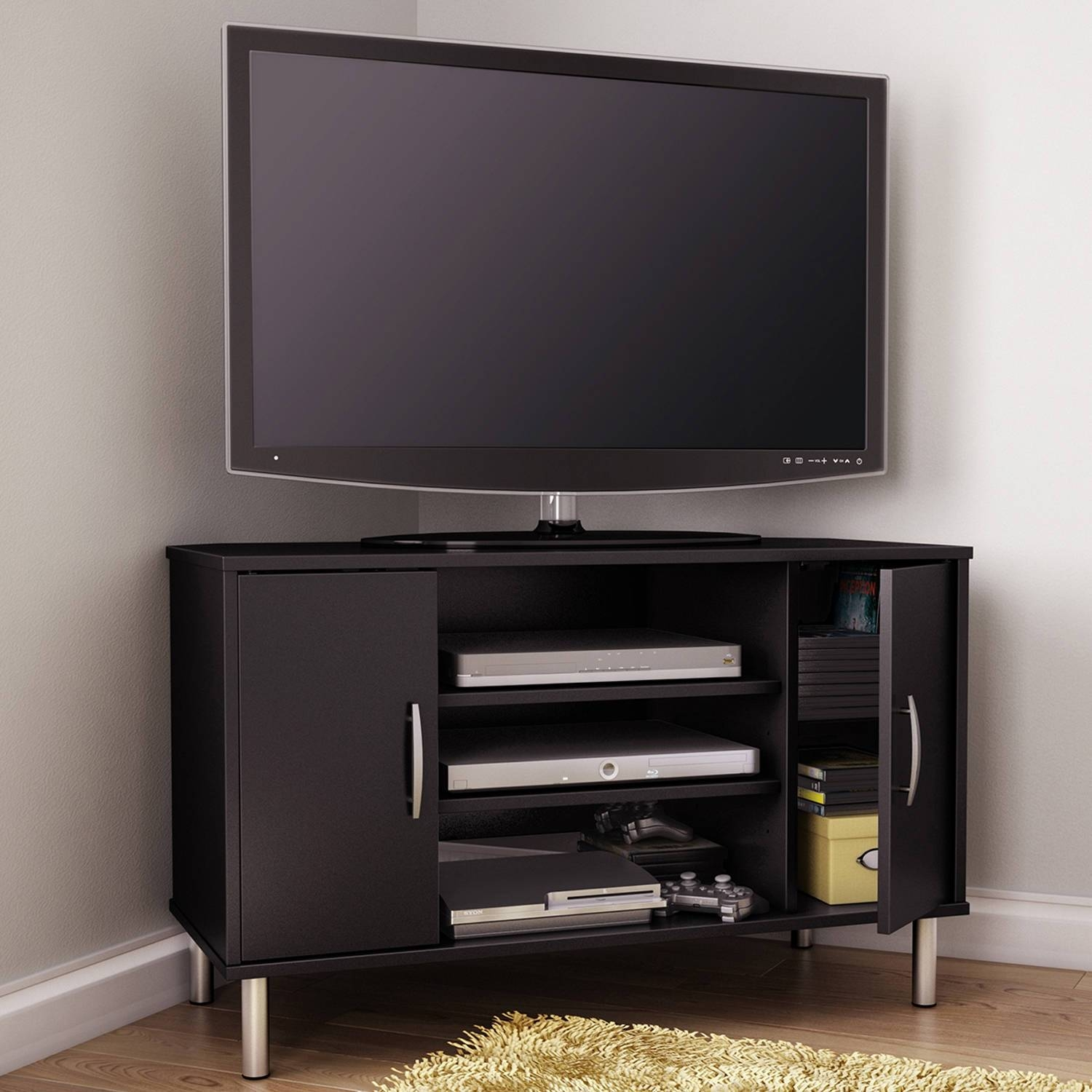 Corner Tv Cabinet Espresso • Corner Cabinets With Regard To Tv Stands For Corner (View 14 of 15)