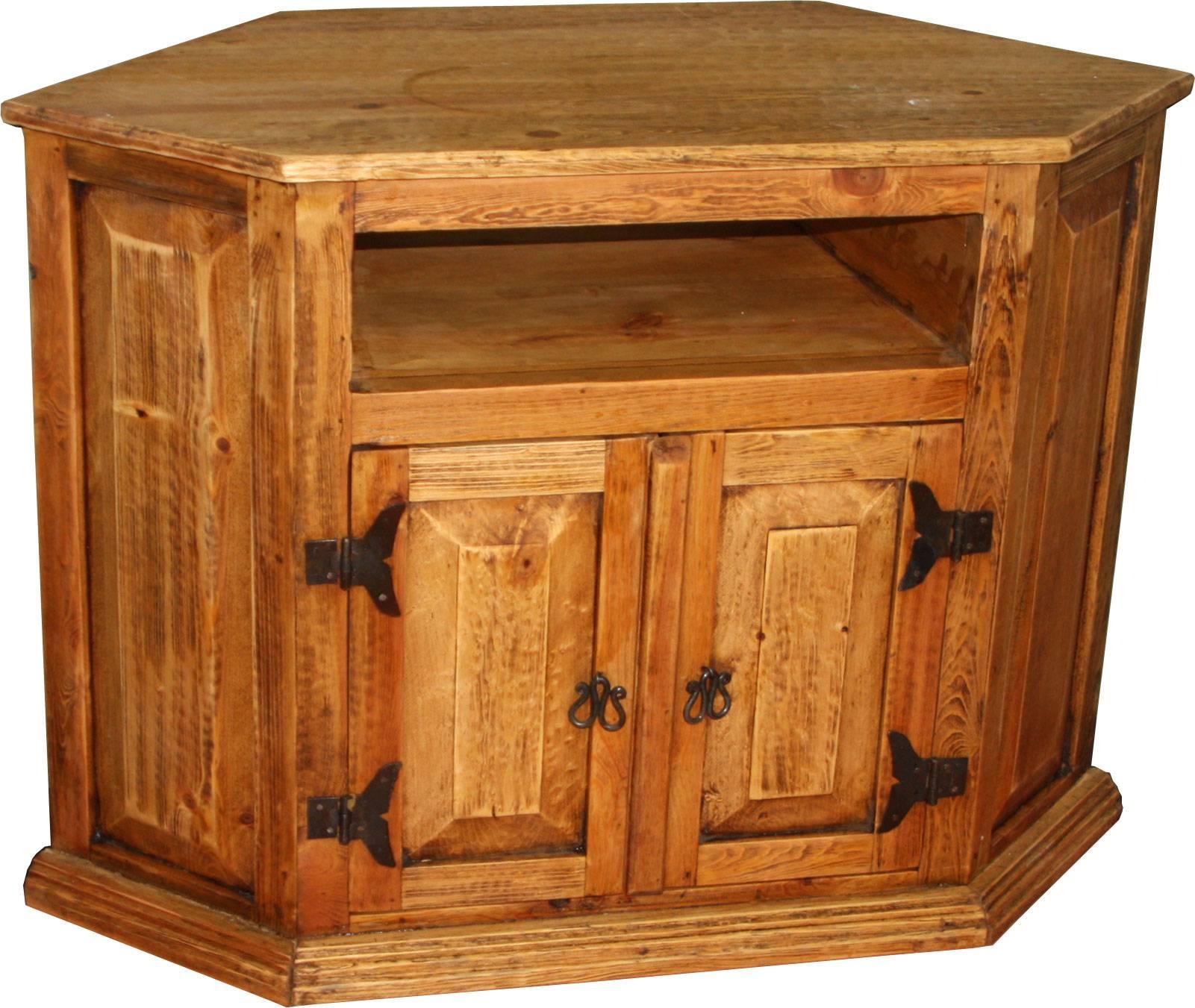 Corner Tv Stand @ Durango Trail Rustic Furniture in Rustic Corner Tv Stands (Image 4 of 15)