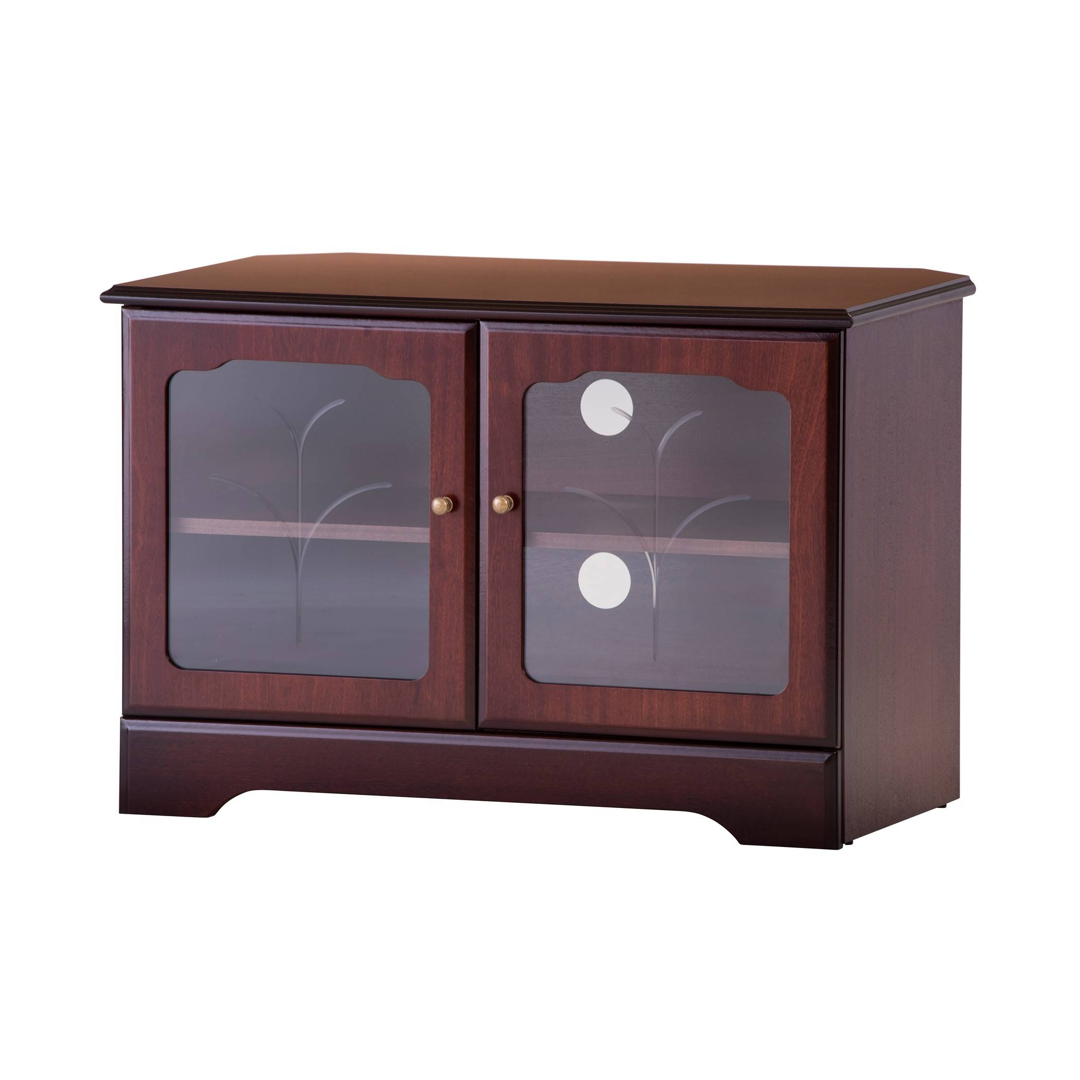 Corner Tv Stand In Mahogany Or Teak | Gola Furniture Uk inside Mahogany Corner Tv Cabinets (Image 4 of 15)