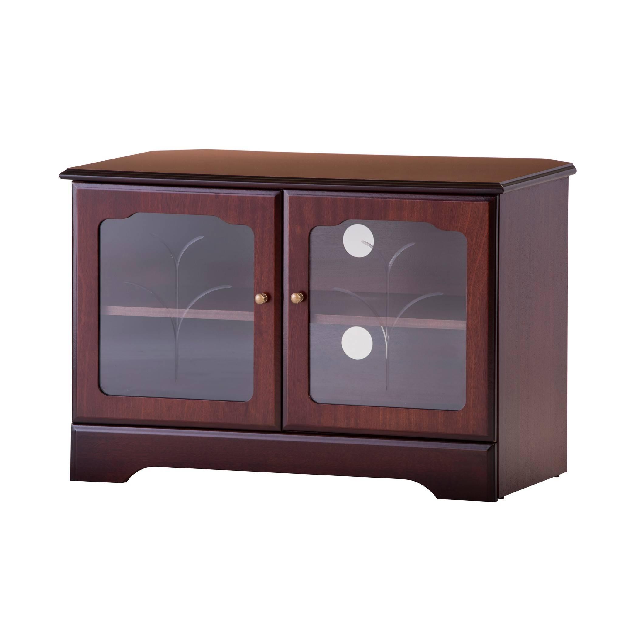 Corner Tv Stand In Mahogany Or Teak | Gola Furniture Uk regarding Mahogany Tv Stands (Image 5 of 15)