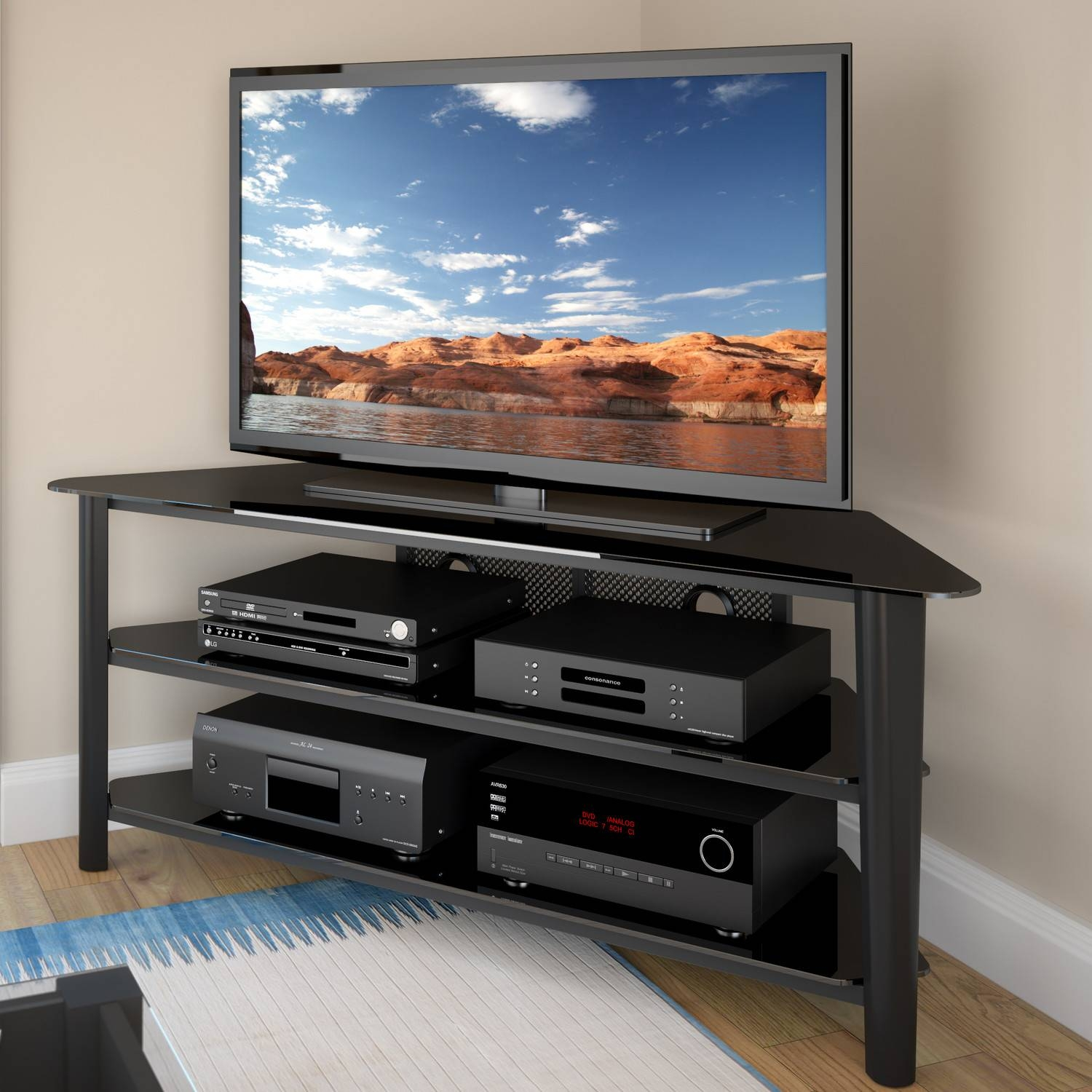 Corner Tv Stands For 60 Flat Screens - Aiyorikane for Corner Tv Stands for 60 Inch Flat Screens (Image 6 of 15)