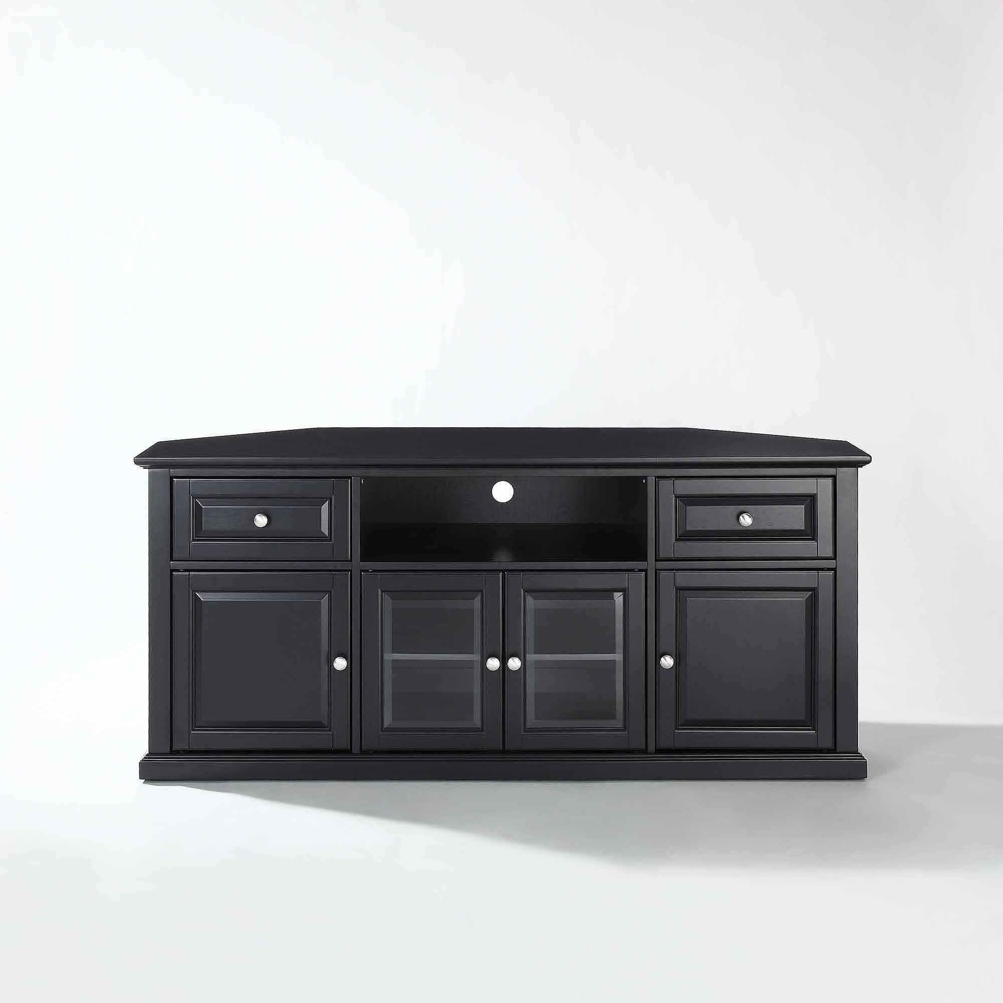 Corner Tv Stands For 60 Flat Screens - Aiyorikane throughout Black Corner Tv Cabinets (Image 4 of 15)