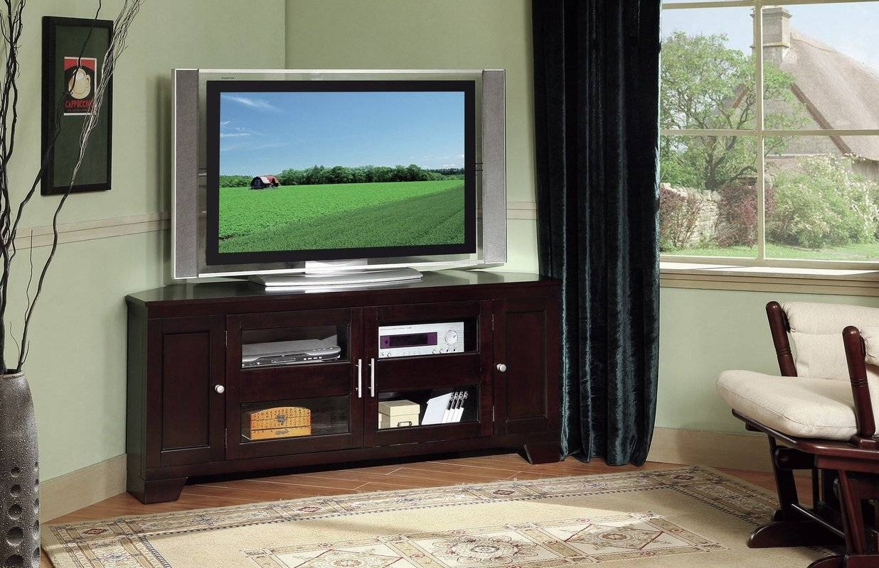 Corner Tv Stands You'll Love for Triangular Tv Stands (Image 6 of 15)