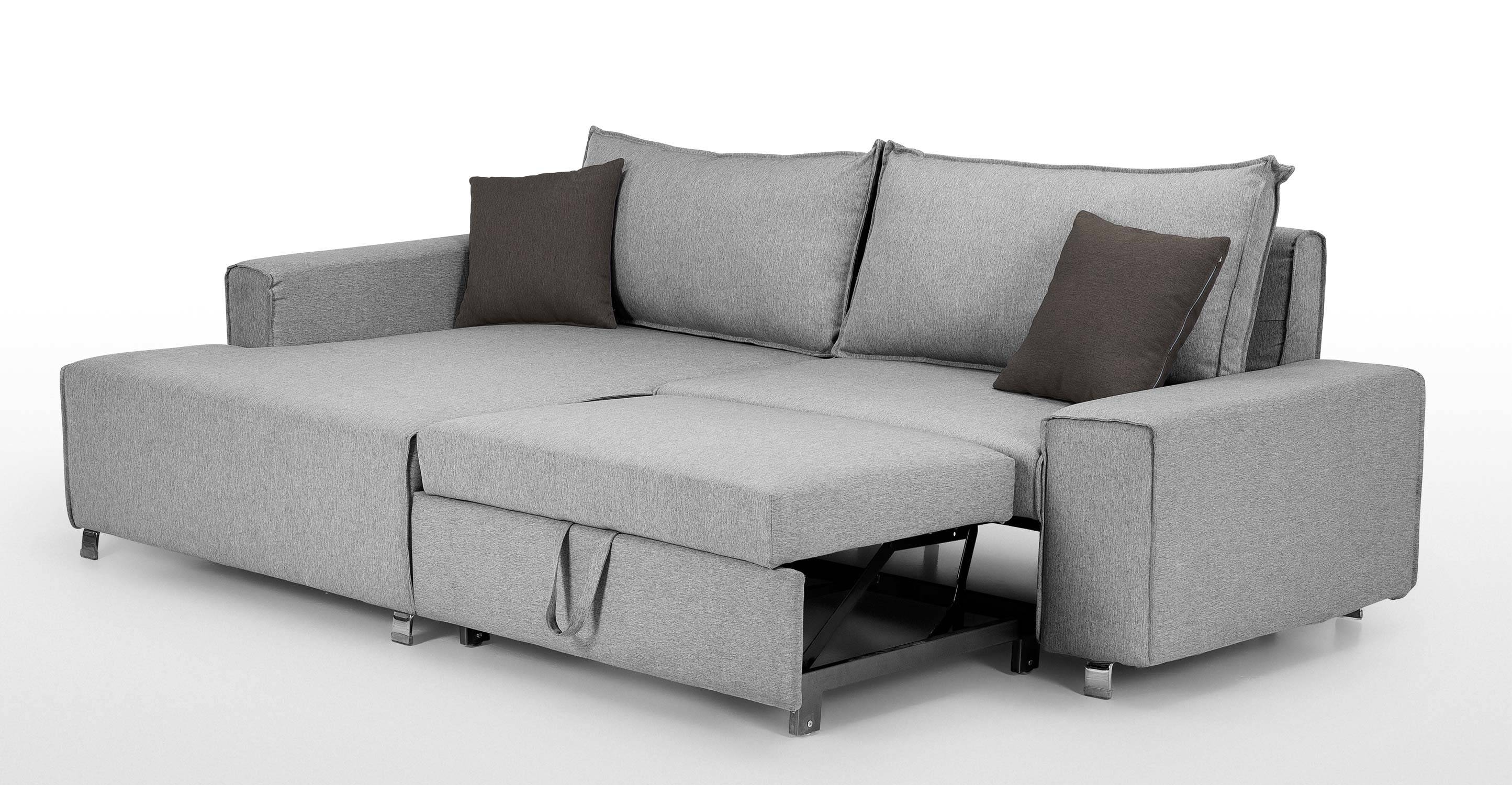 Corner Unit Sofa Beds With Storage | Centerfieldbar throughout Small Grey Sofas (Image 3 of 15)