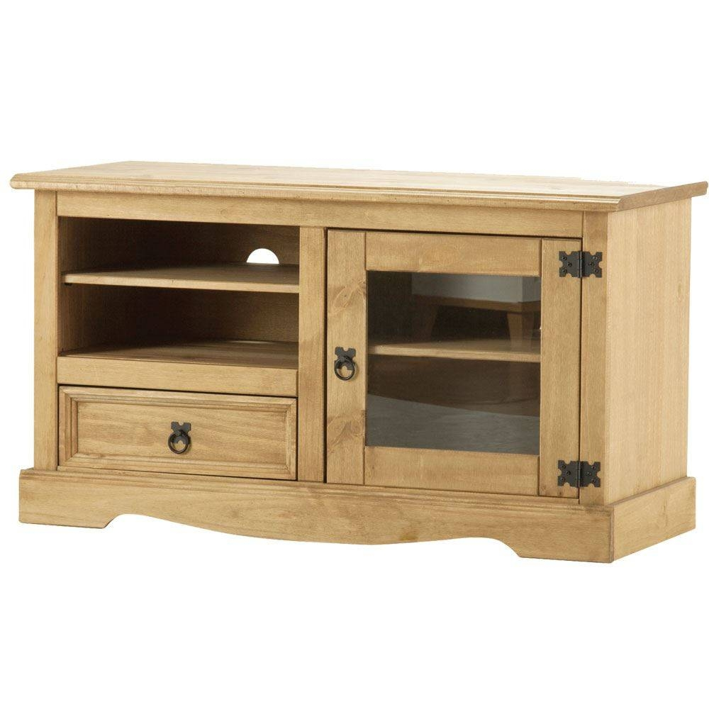 Corona Panama Tv Cabinet Media Dvd Units Wood Solid Pine Furniture with Pine Tv Unit (Image 3 of 15)