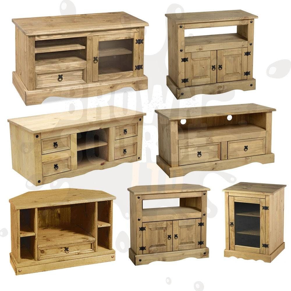 Corona Tv Stand Living Room Furniture Solid Wood Mexican Pine Of Inside Rustic Pine Tv Cabinets (View 12 of 15)