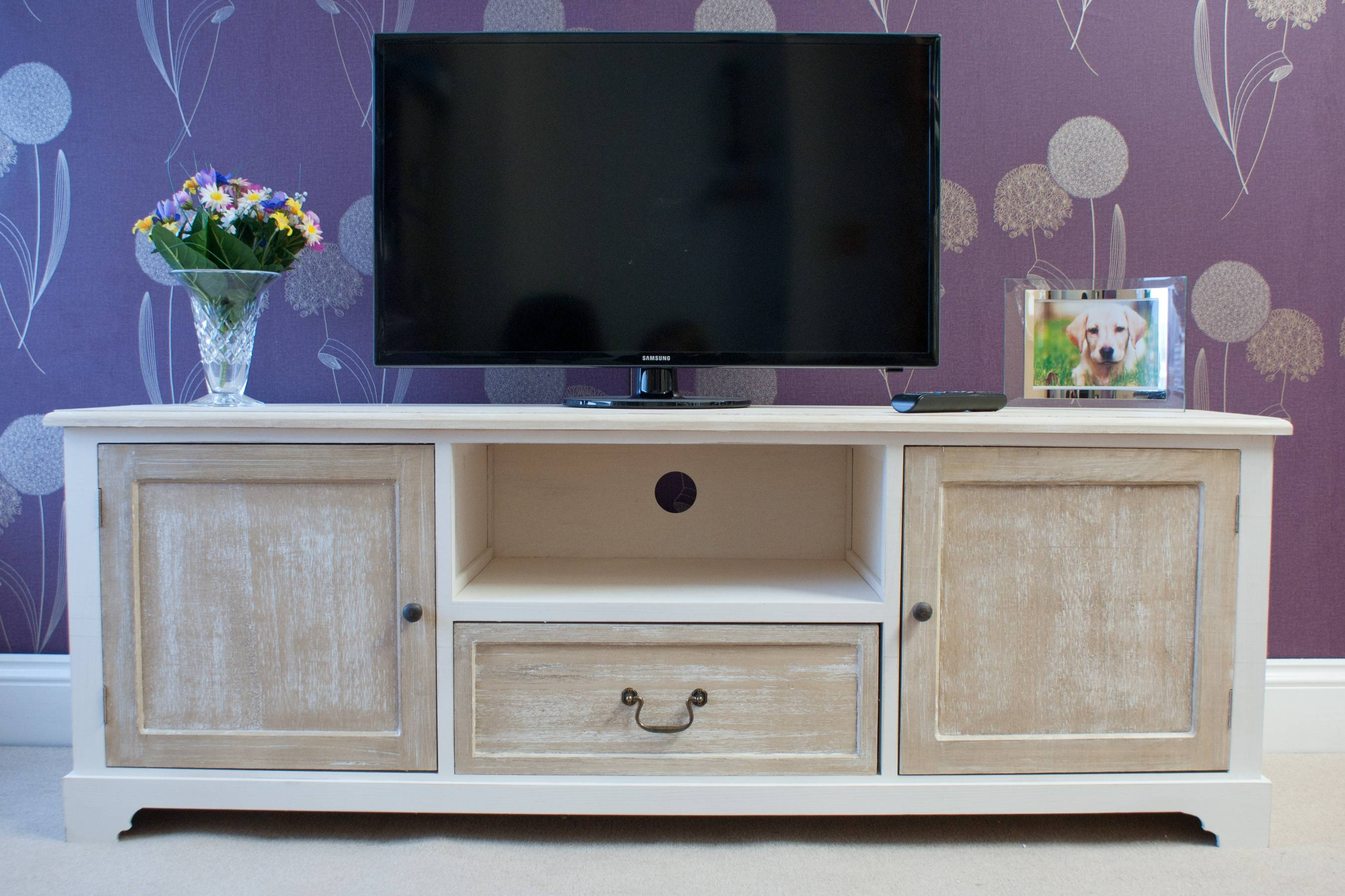 Cotswold 1 Drawer 2 Door Tv Entertainment Unit | Hfs Eastbourne within Tv Drawer Units (Image 6 of 15)
