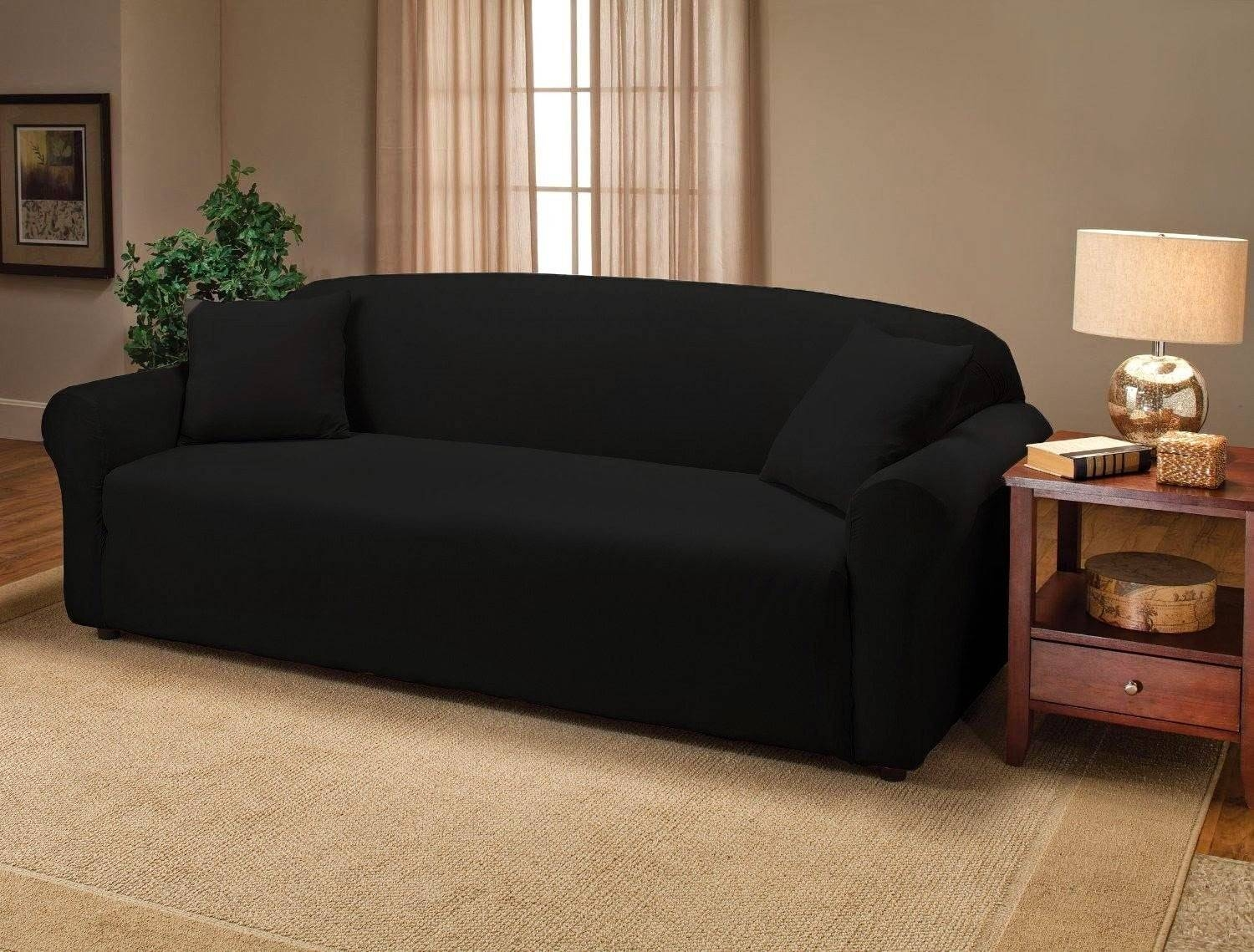 Couch Covers within Black Sofa Slipcovers (Image 2 of 15)