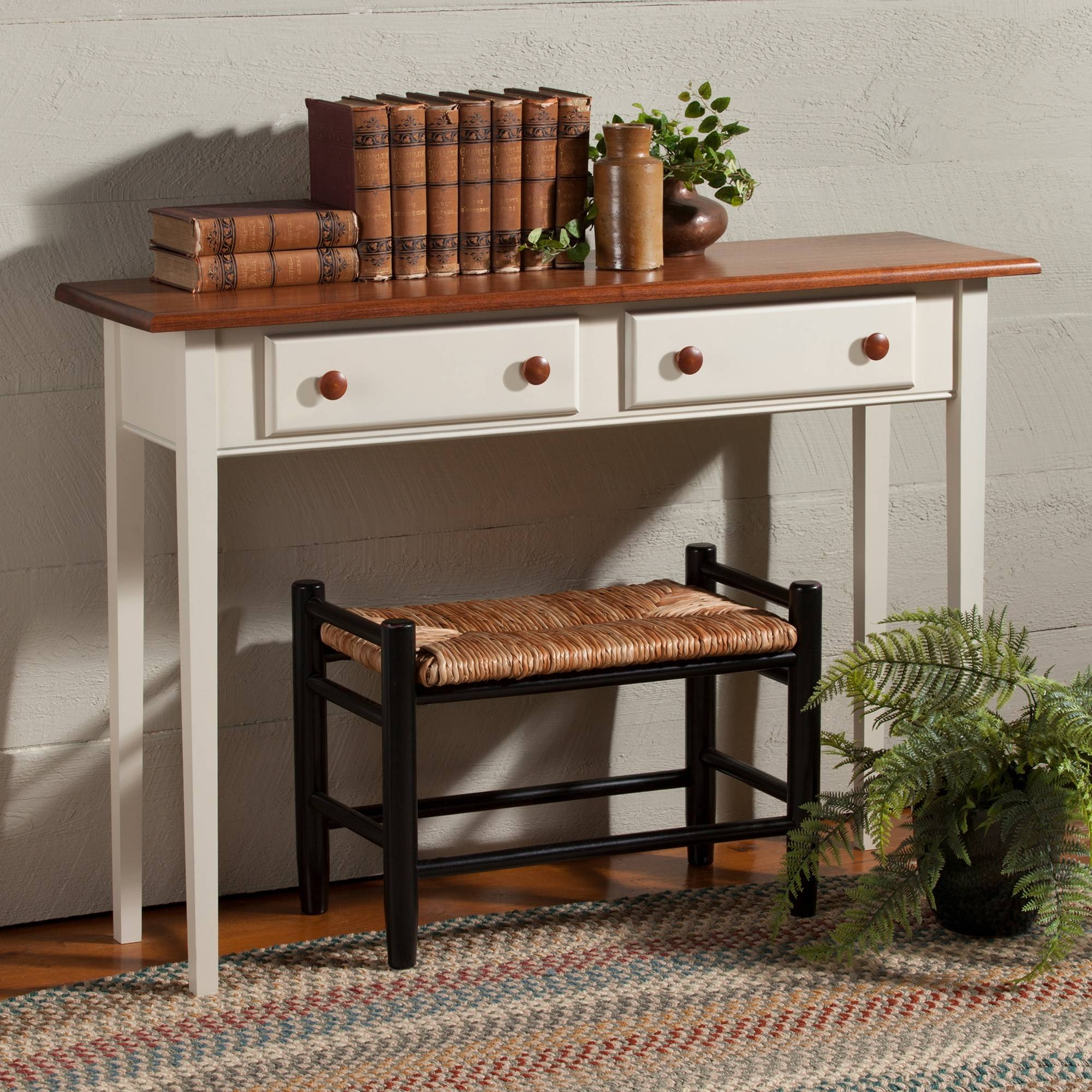 Country Shaker Sofa Hall Table | Sturbridge Yankee Workshop Regarding Shaker Sofas (View 14 of 15)