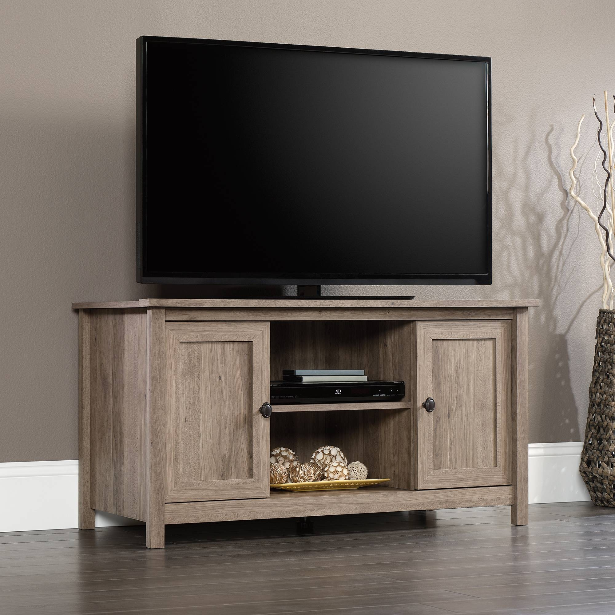 County Line | Tv Stand | 417772 | Sauder intended for Hardwood Tv Stands (Image 3 of 15)