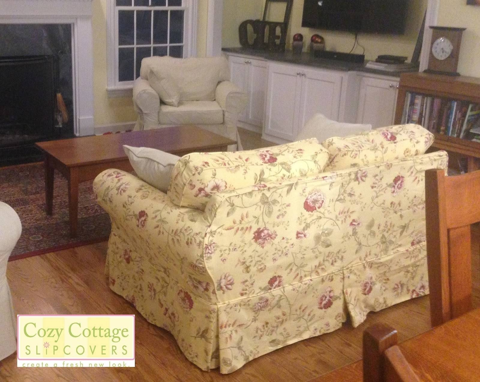 Cozy Cottage Slipcovers: Fresh Floral Slipcovers with Floral Slipcovers (Image 3 of 15)