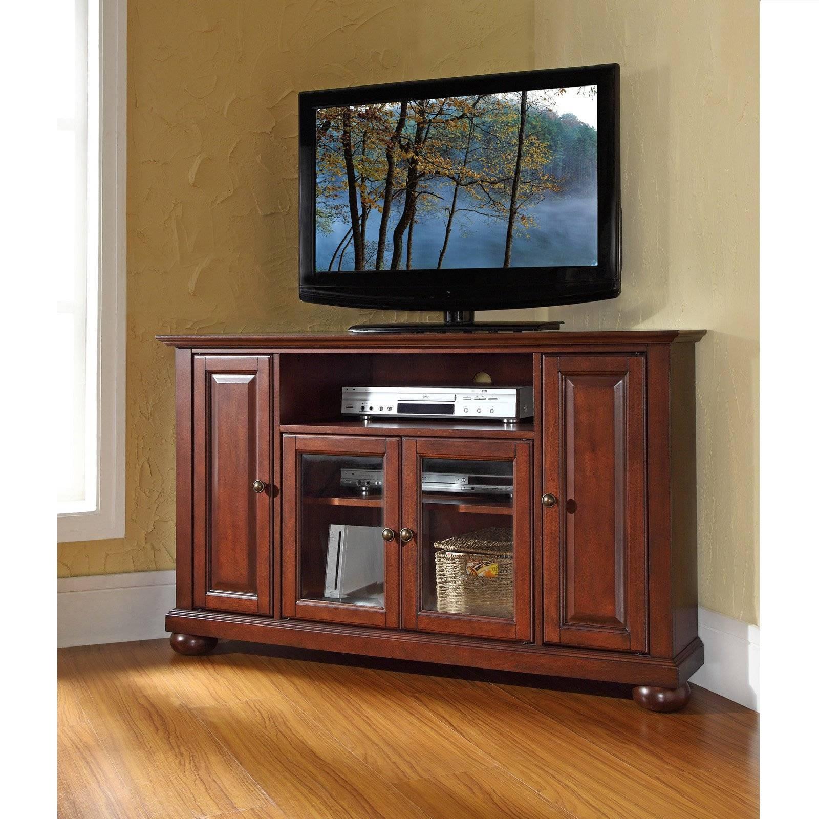 Crosley Alexandria 48 In. Corner Tv Stand - Vintage Mahogany for Mahogany Tv Cabinets (Image 6 of 15)