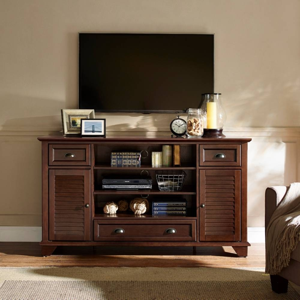 "Crosley Cf100660-Ma Palmetto 60"" Full Size Tv Stand In Mahogany W regarding Mahogany Tv Stands (Image 7 of 15)"