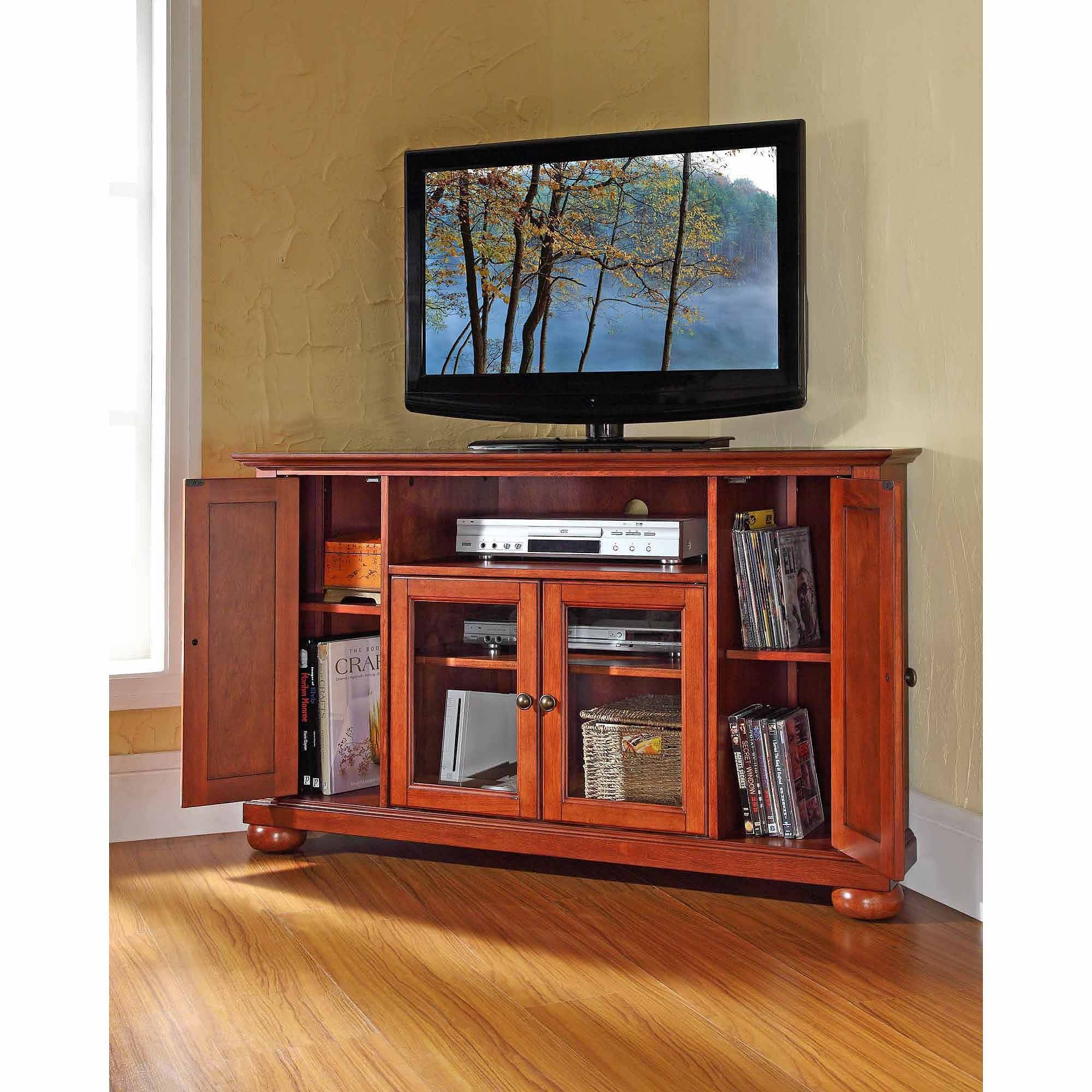 Crosley Furniture Alexandria Corner Tv Stand For Tvs Up To 48 throughout Tv Stands For Corners (Image 4 of 15)
