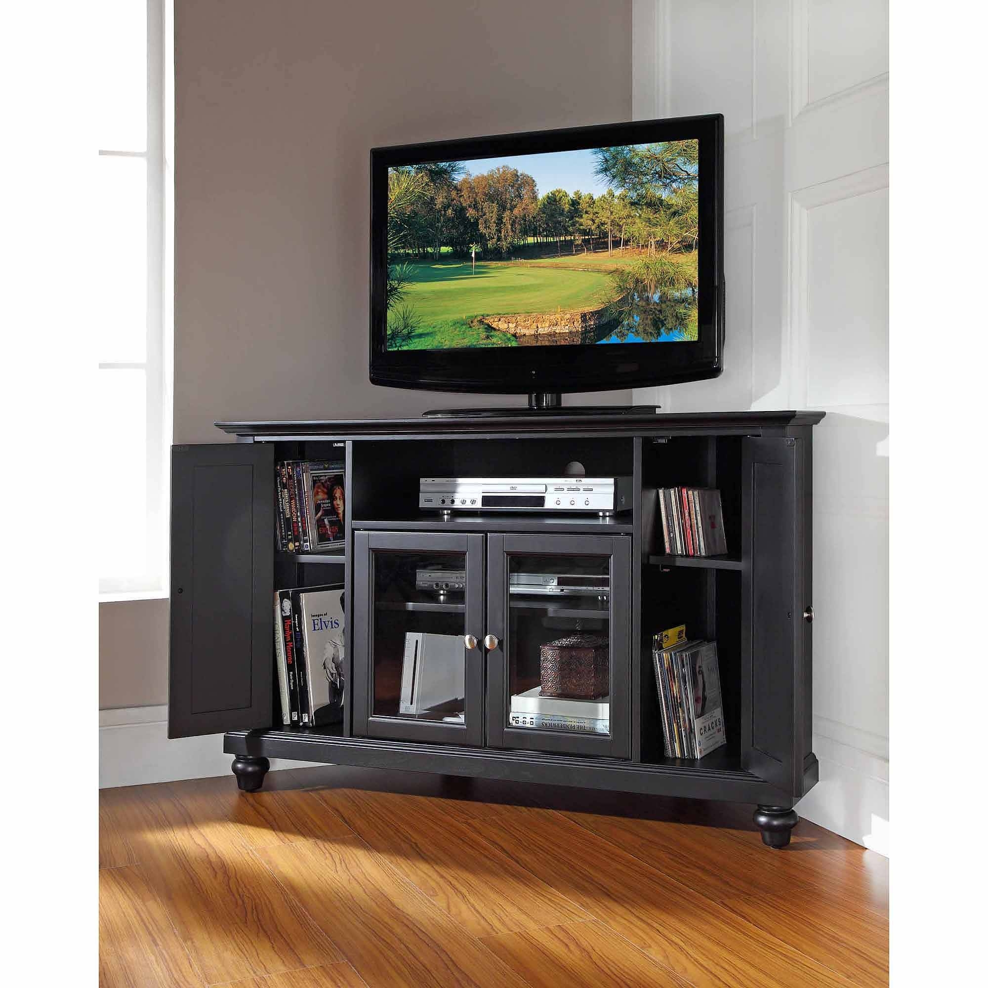 Crosley Furniture Cambridge Corner Tv Stand For Tvs Up To 48 With Regard To Corner Tv Tables Stands (View 3 of 15)