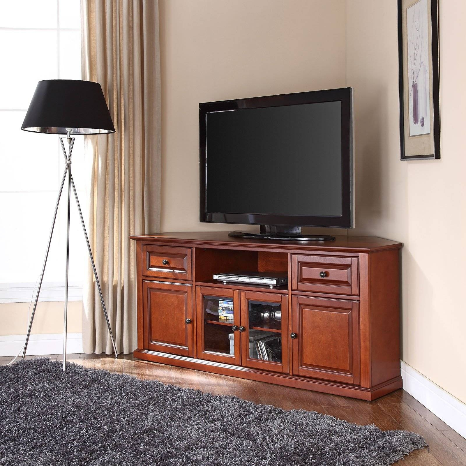 "Crosley Furniture Corner Tv Stand For Tvs Up To 60"" - Walmart inside Corner Tv Stands (Image 5 of 15)"