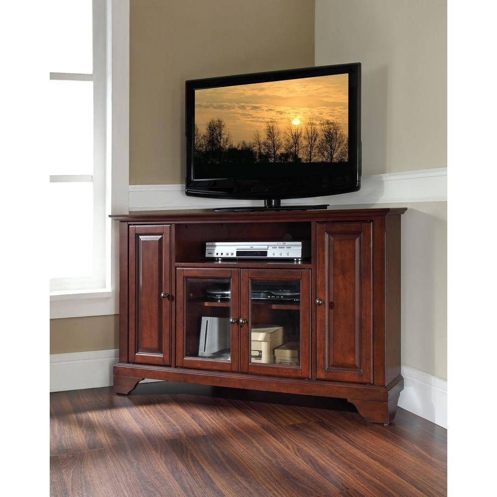 Crosley Lafayette Mahogany Entertainment Center-Kf10006Bma - The for Mahogany Corner Tv Cabinets (Image 8 of 15)