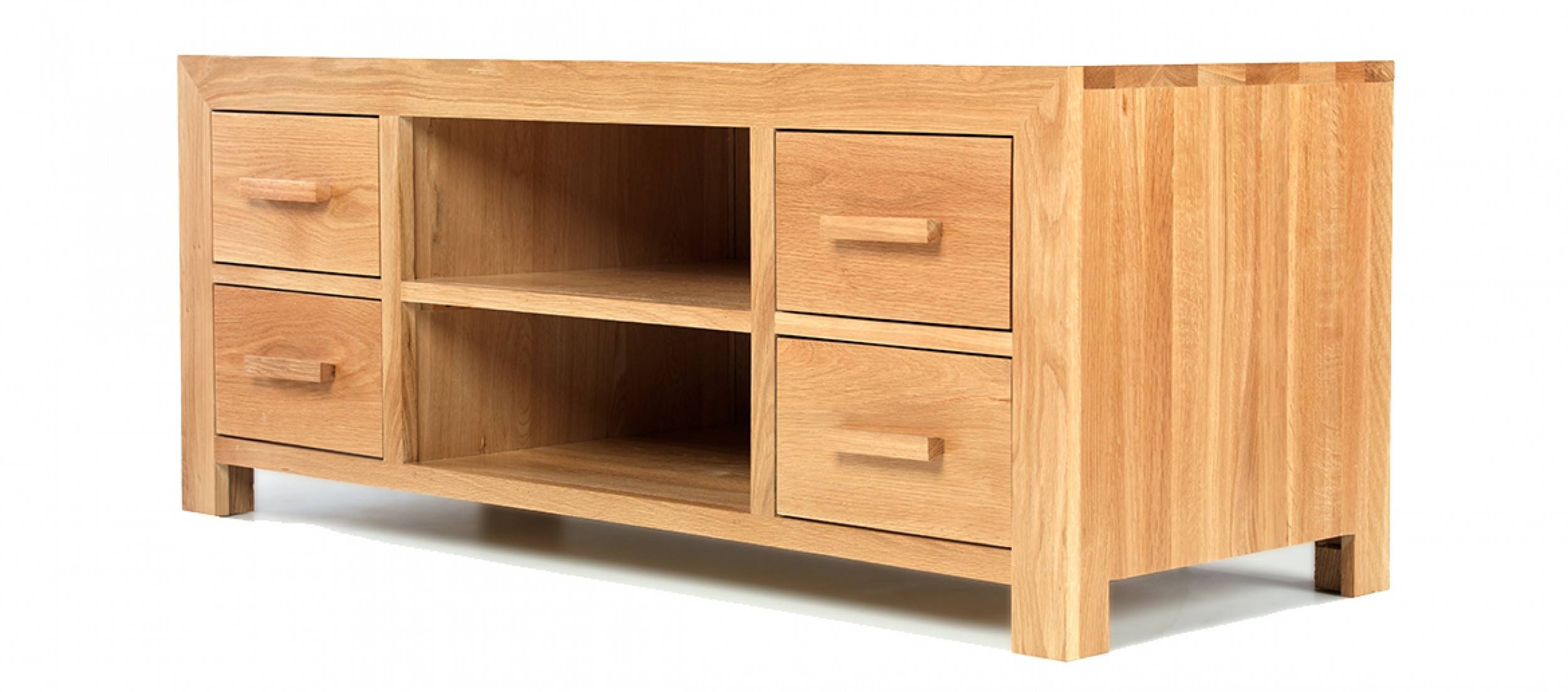 Cube Oak Plasma Tv Stand | Quercus Living Intended For Plasma Tv Stands (View 13 of 15)