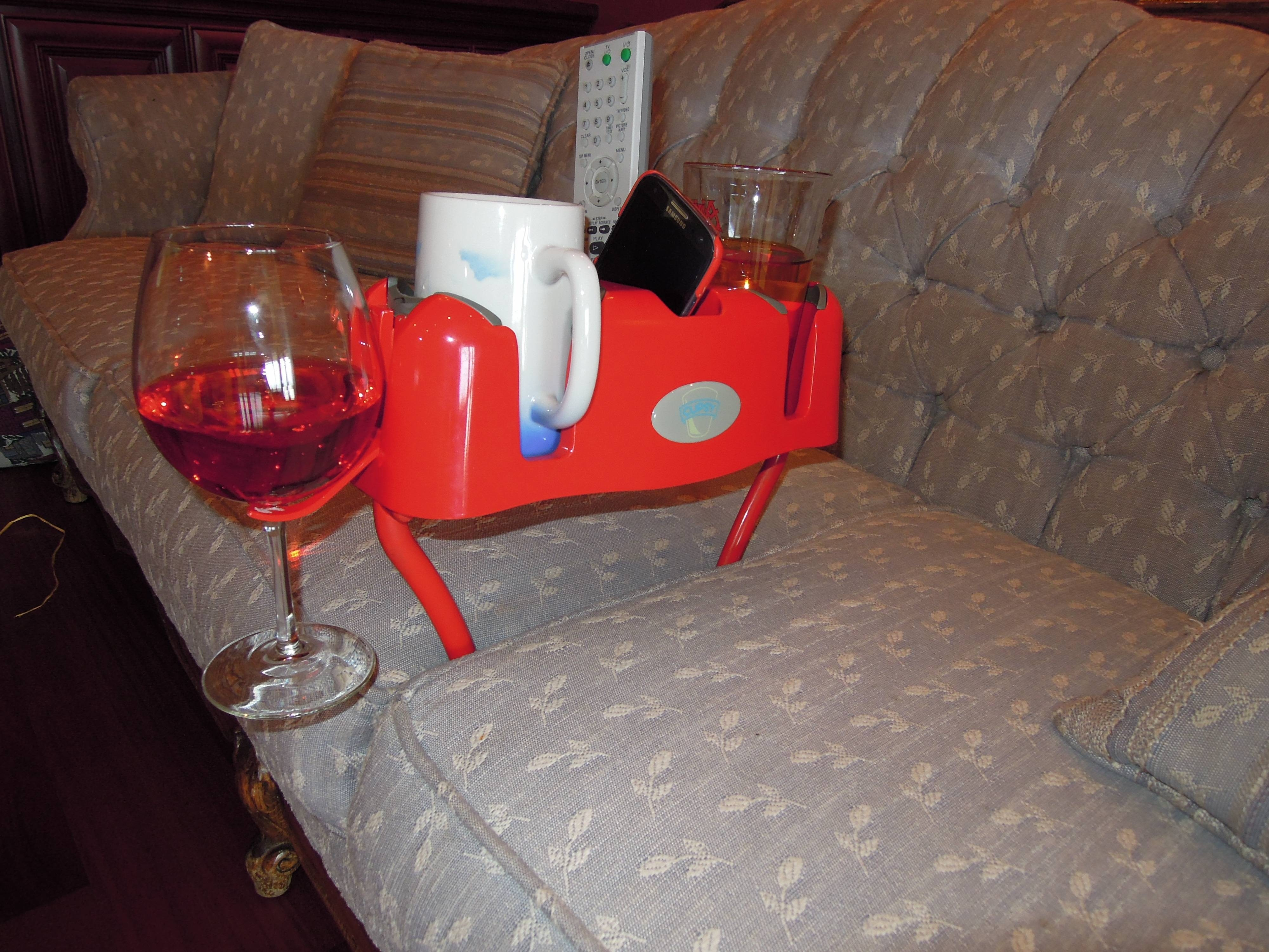 Cupsy - The World's Most Overachieving Cupholder throughout Sofas With Drink Holder (Image 3 of 15)