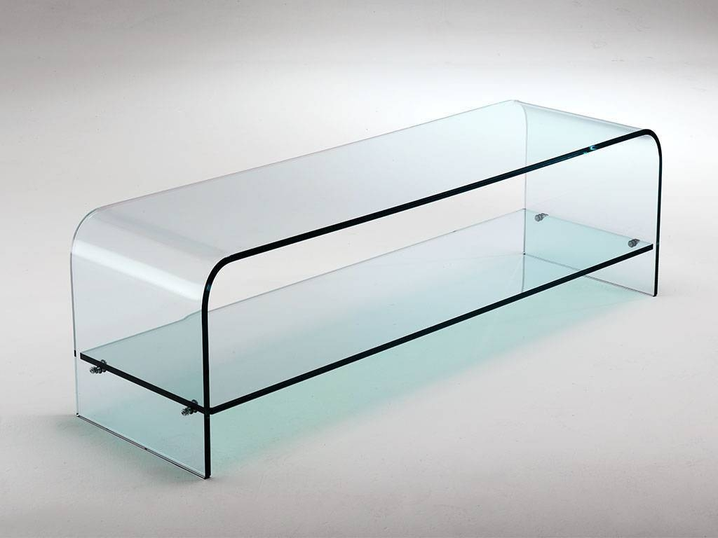 Curved Glass Tv Stand Tango For Glass Tv Cabinets (View 13 of 15)