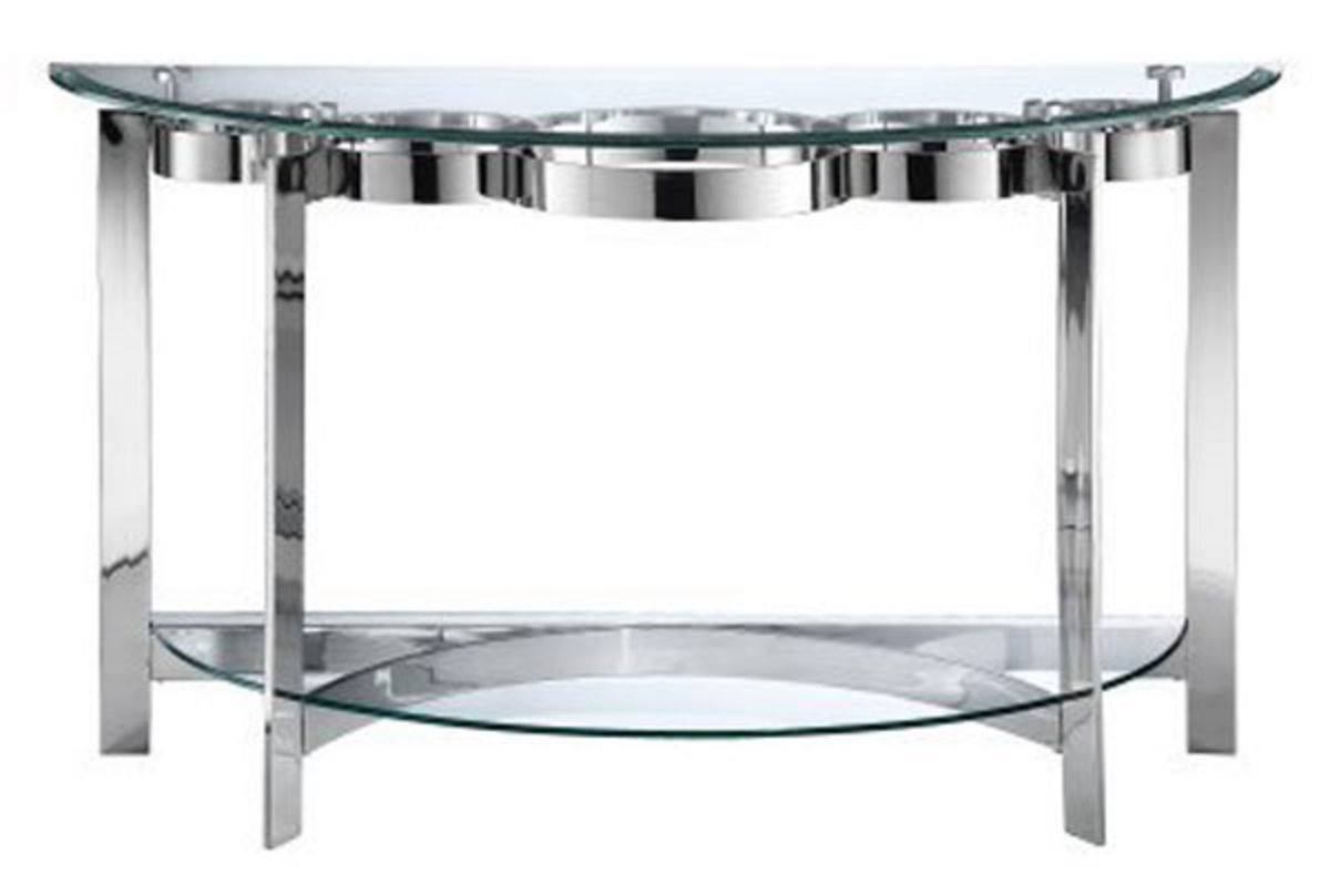 Curvy Chrome & Glass Sofa Table Inside Chrome Sofa Tables (View 6 of 15)