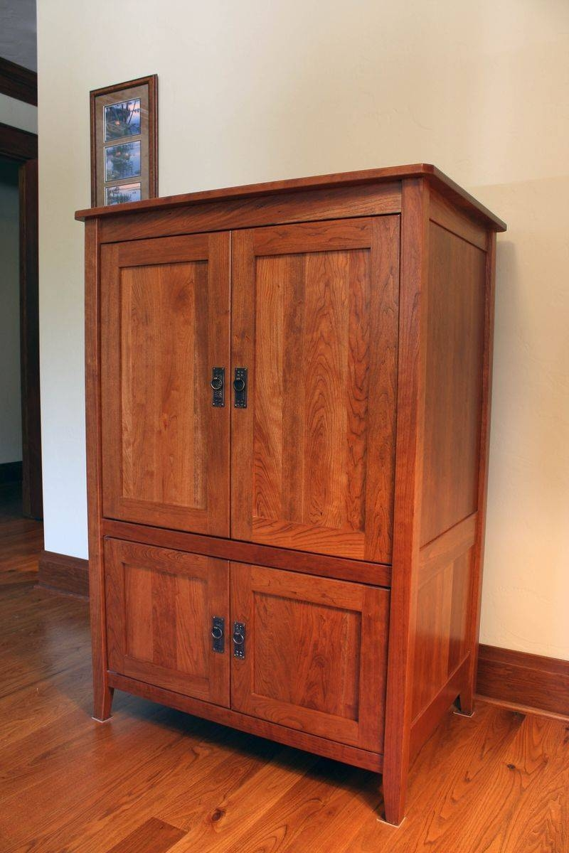 Custom Armoire Or Media Cabinetmontana Cabinet & Canoe intended for Cherry Tv Armoire (Image 7 of 15)