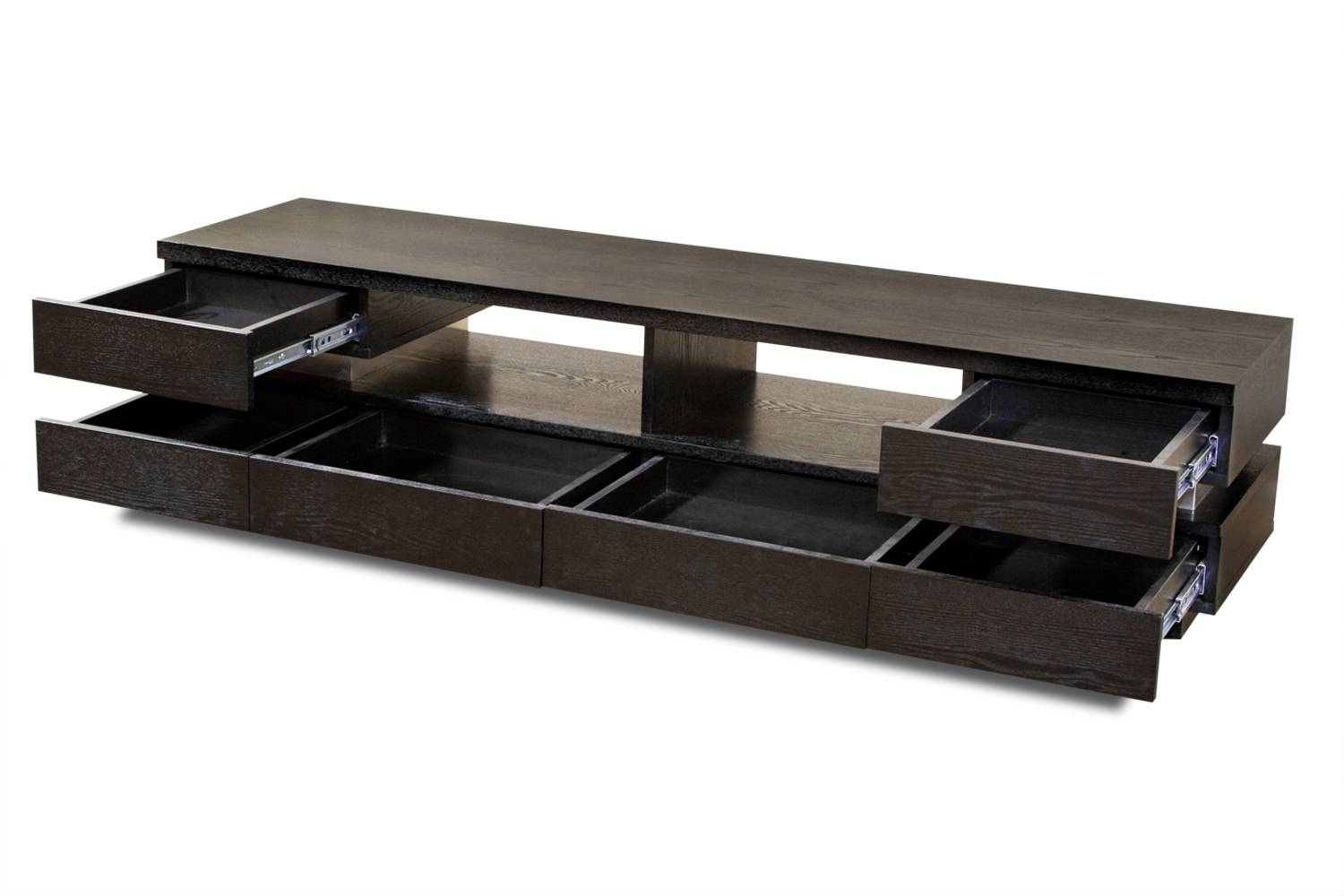 Custom Low Profile Tv Console Design With Drawer And Storage For With Regard To Long Low Tv Cabinets (View 14 of 15)
