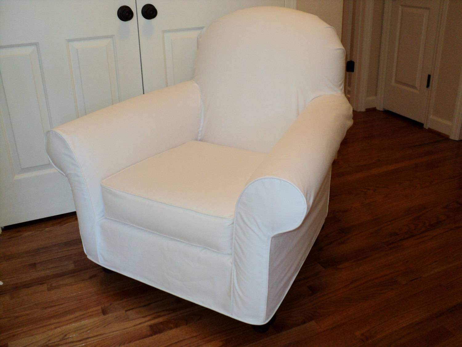 Custom Slipcover For Your Pb Dream Rocker With Wooden for Pottery Barn Chair Slipcovers (Image 2 of 15)
