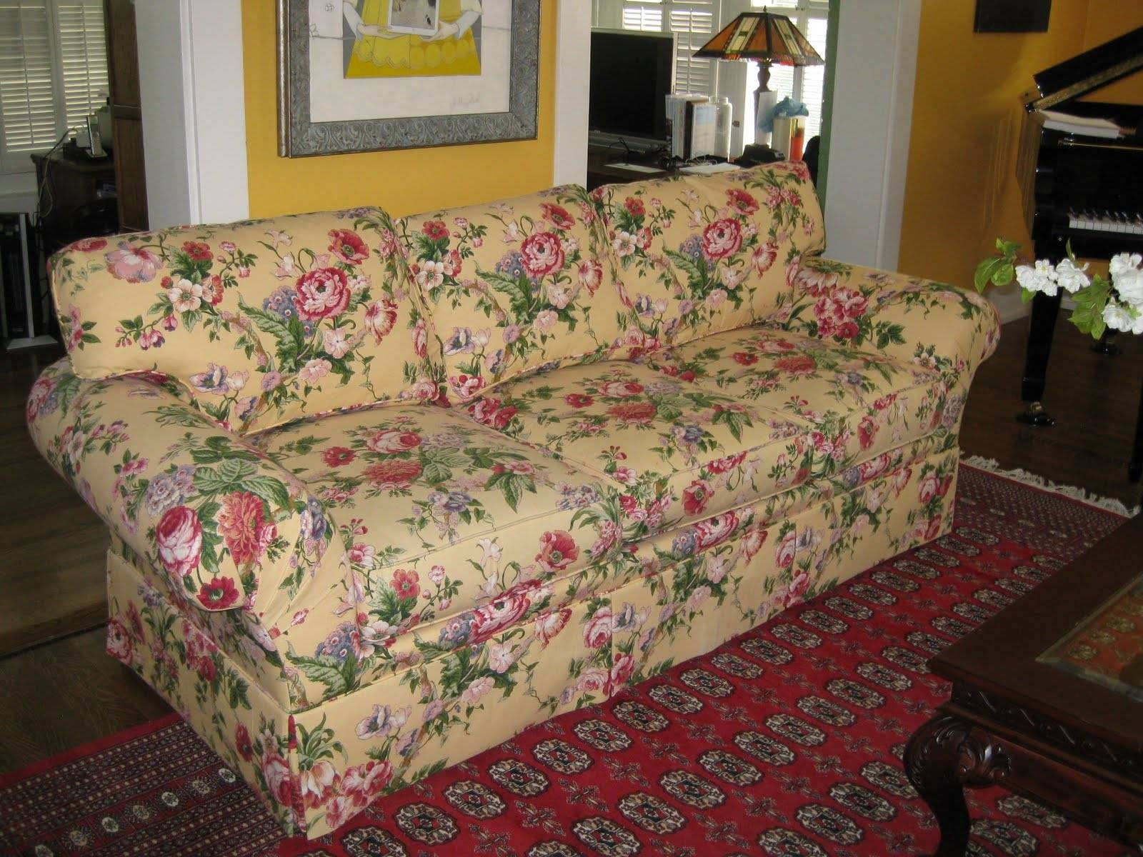 Custom Slipcoversshelley: Menswear Wool Couch for Floral Slipcovers (Image 4 of 15)