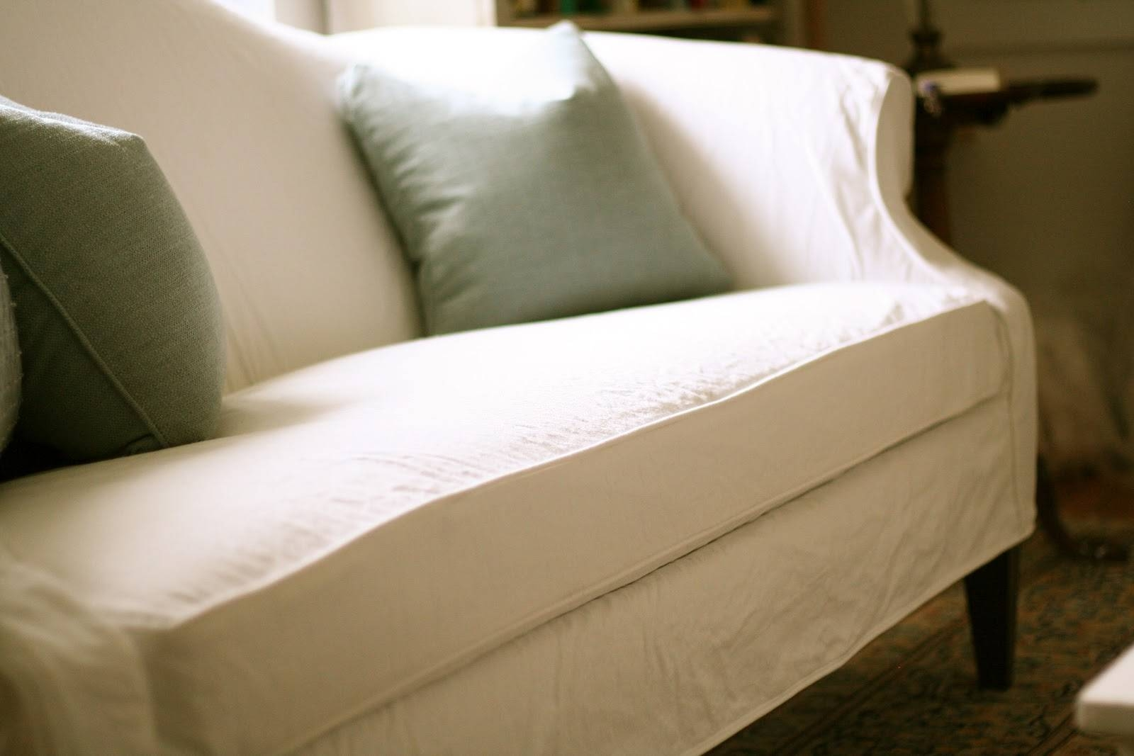 Custom Slipcoversshelley: White Camel Back Couch intended for Camelback Slipcovers (Image 7 of 15)
