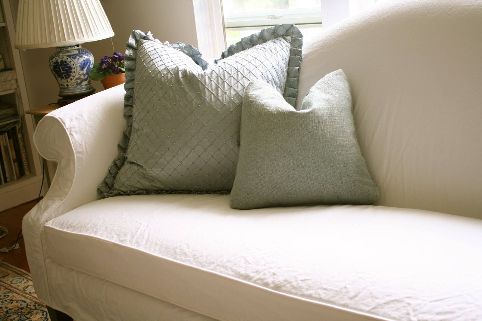 Custom Slipcoversshelley: White Camel Back Couch within Camel Back Sofa Slipcovers (Image 12 of 15)
