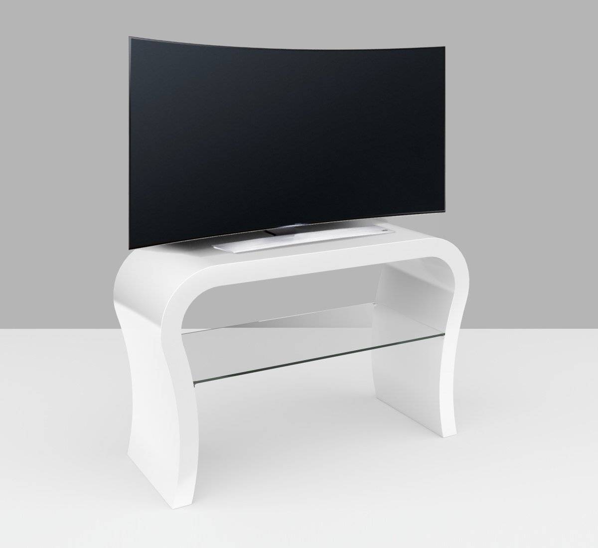 Custom Tv Stands | Custom Made Media Units - Zespoke in White Gloss Oval Tv Stands (Image 2 of 15)