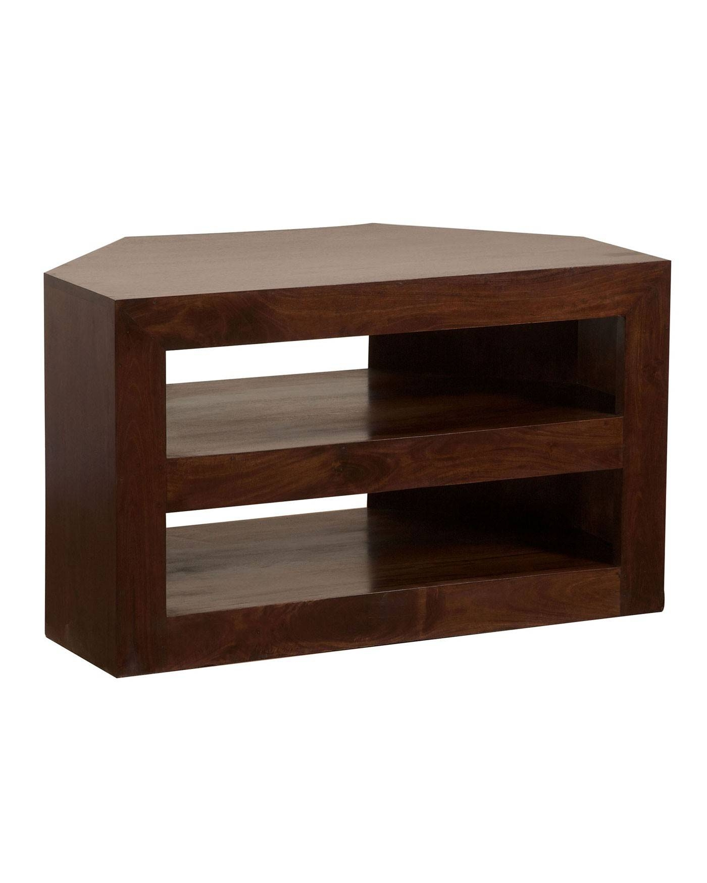 Dakota Corner Tv Unit Dark Shade – Homescapes Pertaining To Tv Cabinets Corner Units (View 13 of 15)