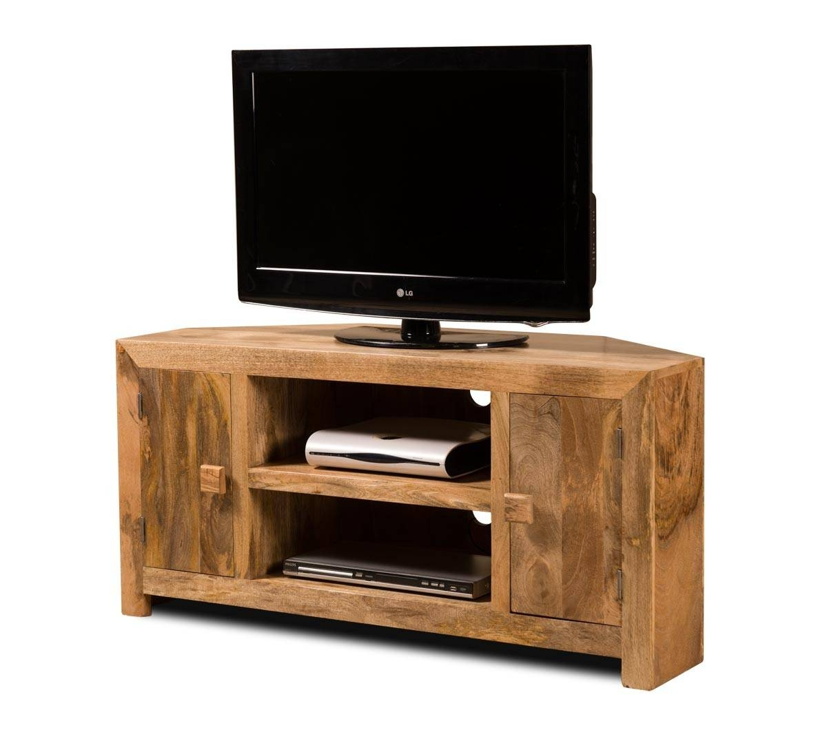 Dakota Light Mango Large Corner Tv Unit | Casa Bella Furniture Uk pertaining to Light Oak Tv Cabinets (Image 5 of 15)