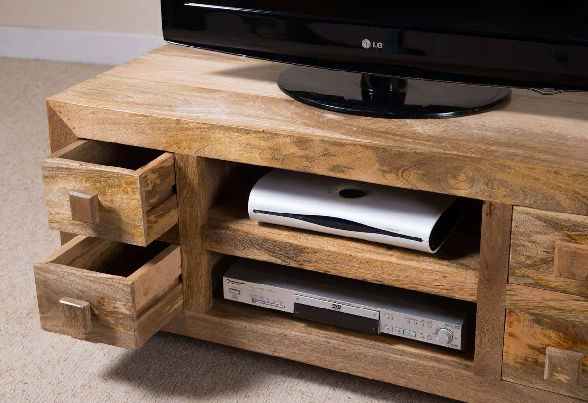 Dakota Light Mango Low Tv Unit | Casa Bella Furniture Uk pertaining to Low Corner Tv Cabinets (Image 4 of 15)